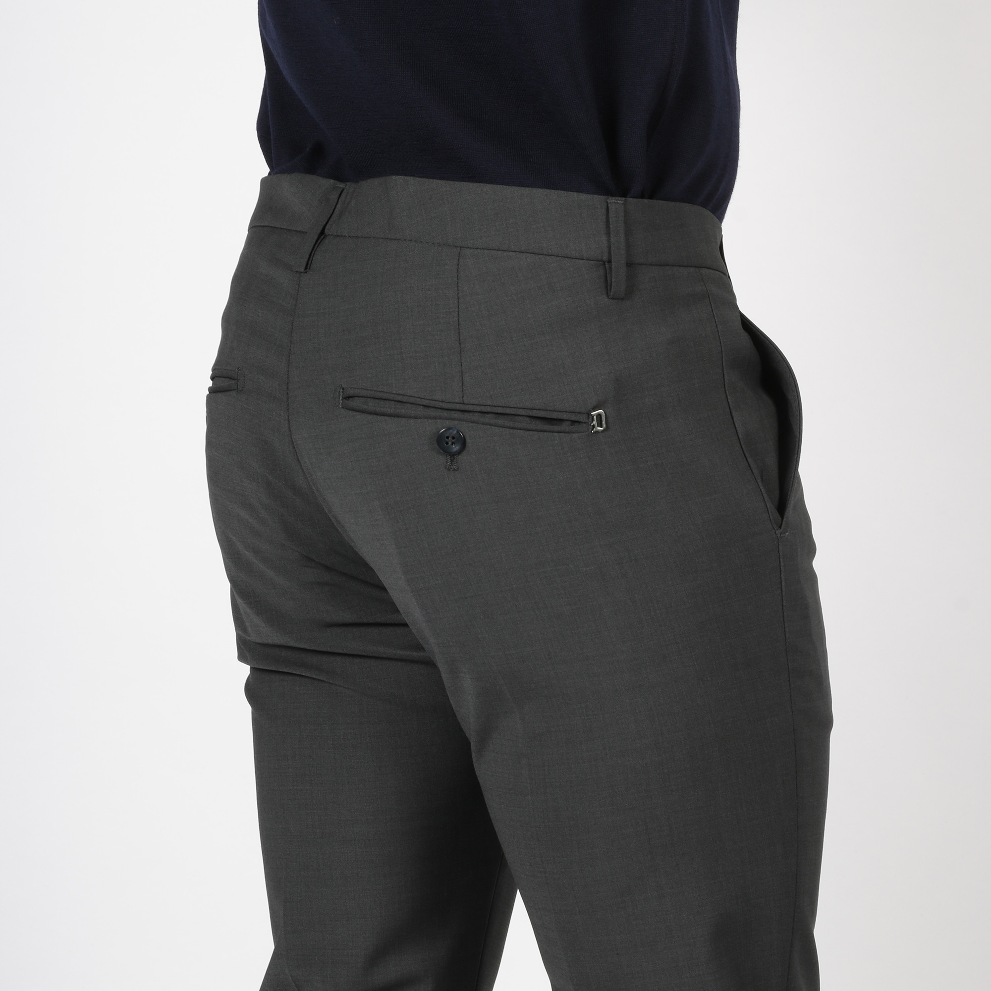 Pantalone gaubert fresco di lana - Grigio