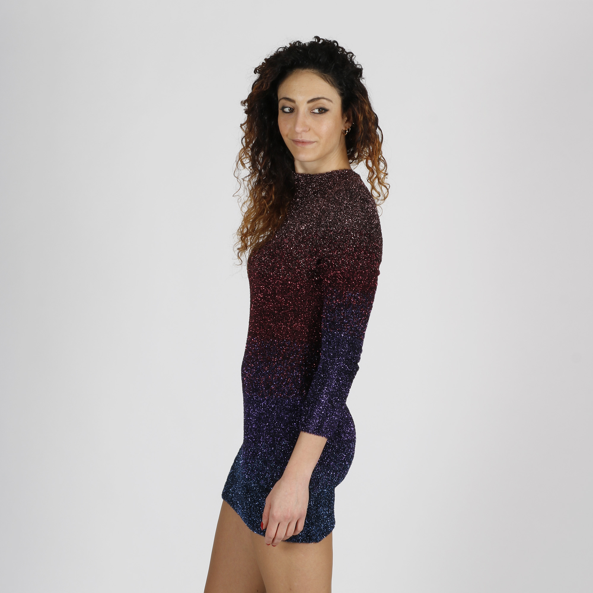Abito maglia lurex - Multicolor