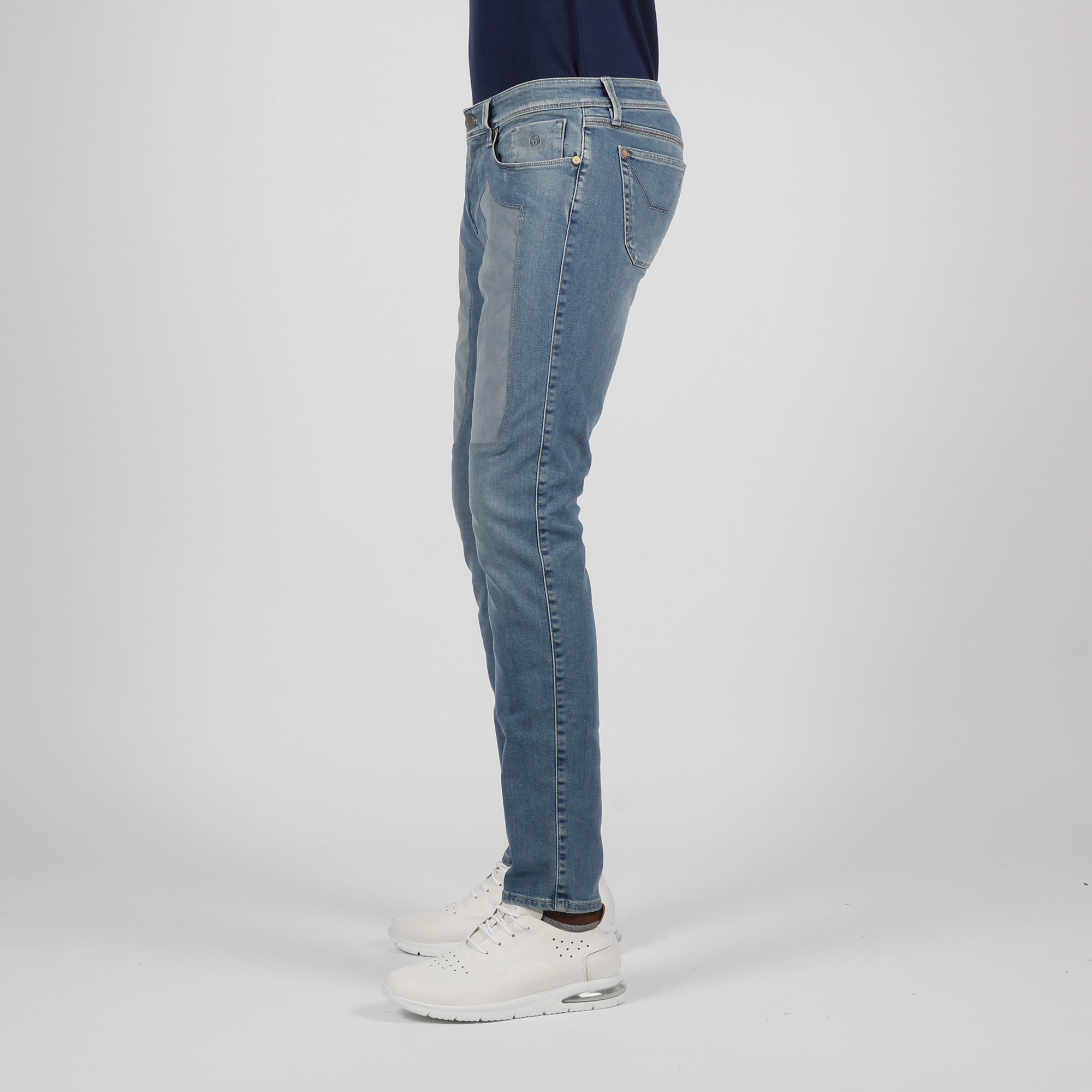 Jeans toppa alcantara - Denim chiaro