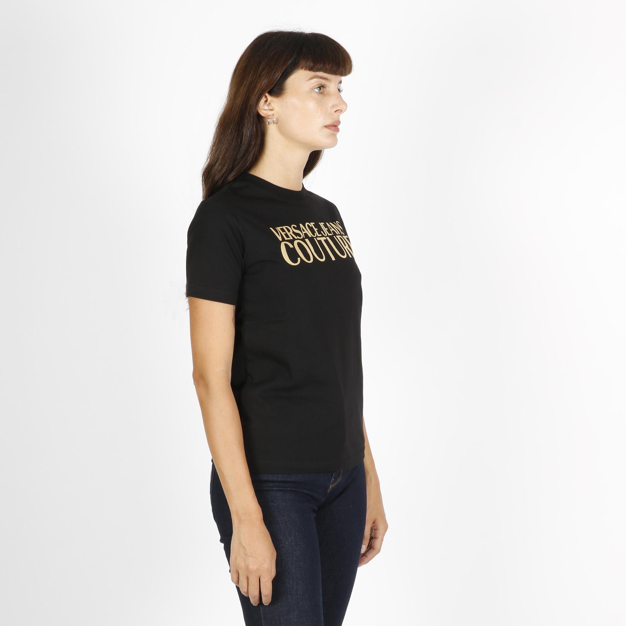 T-shirt logo oro - Nero