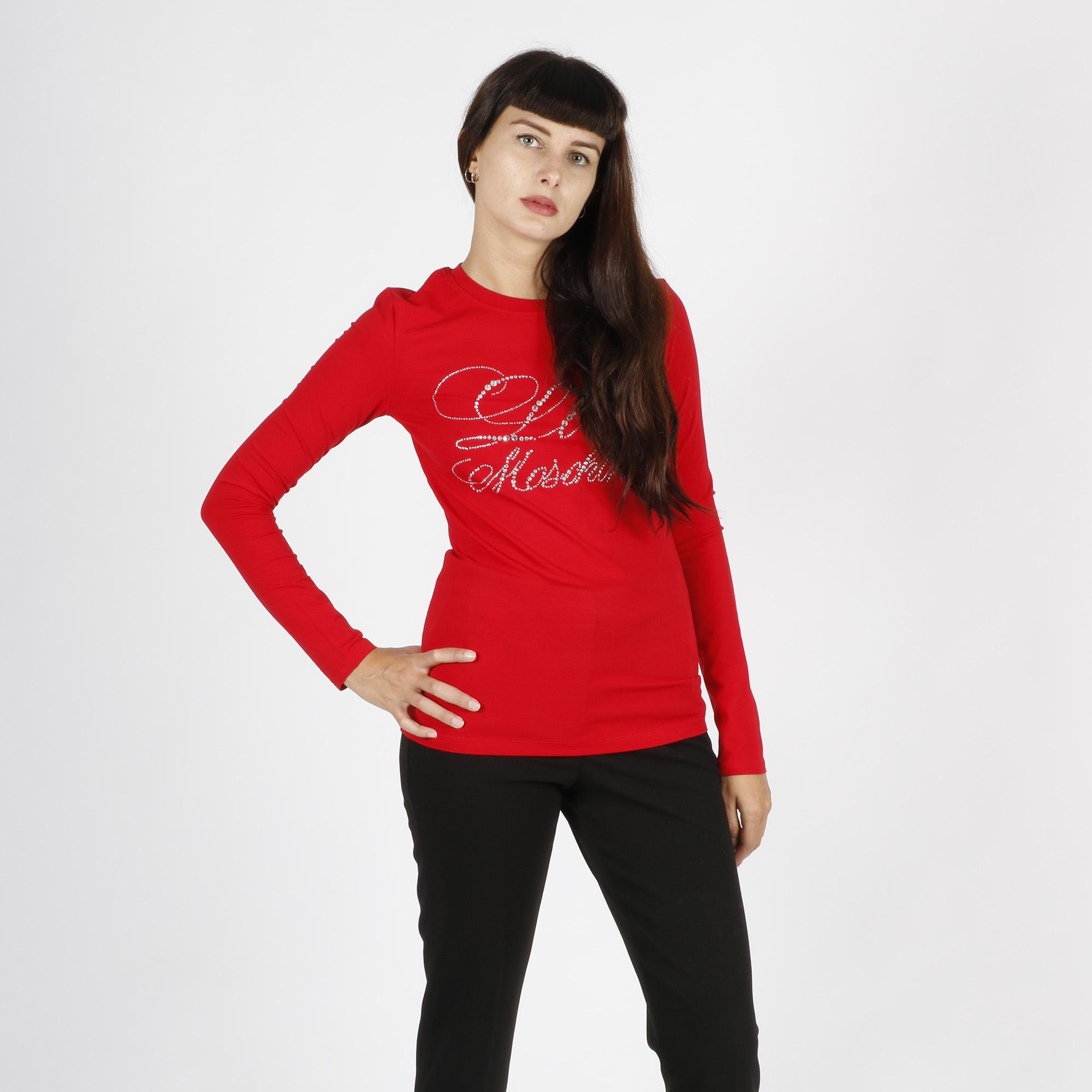 Maglietta stampa logo romantico - Rosso