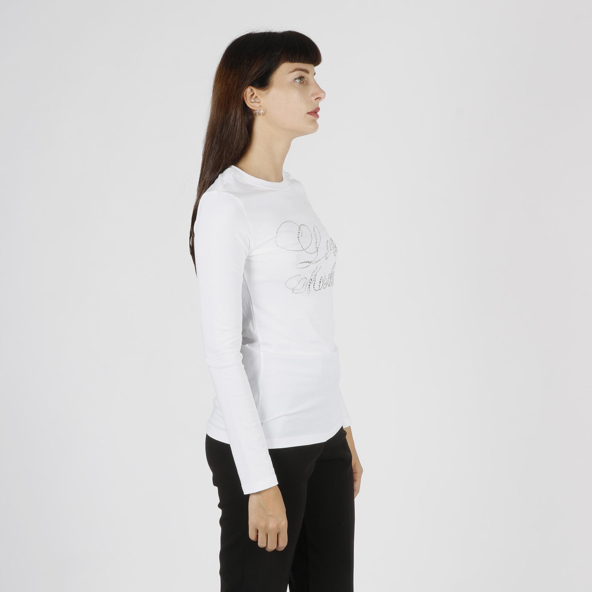 Maglietta stampa logo romantico - Bianco
