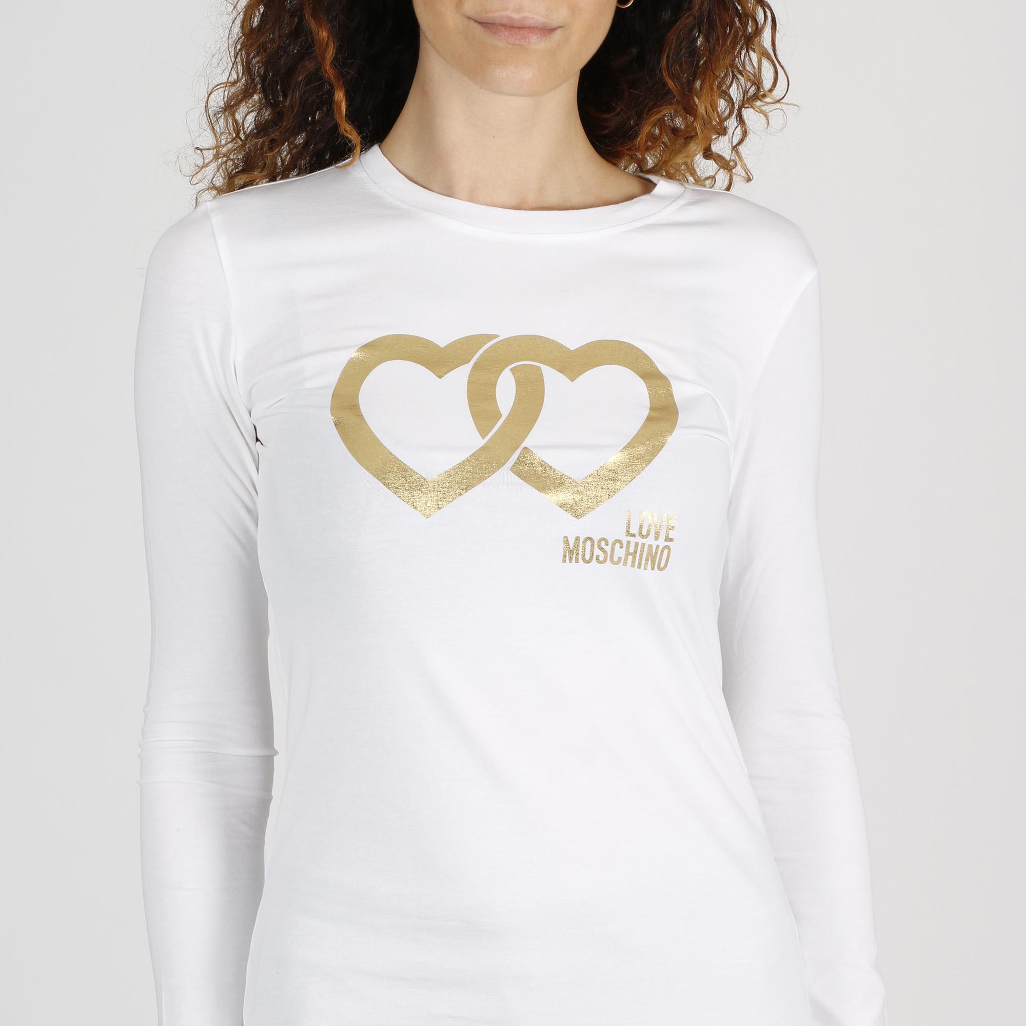 Maglietta logo cuori intrecciati - Bianco