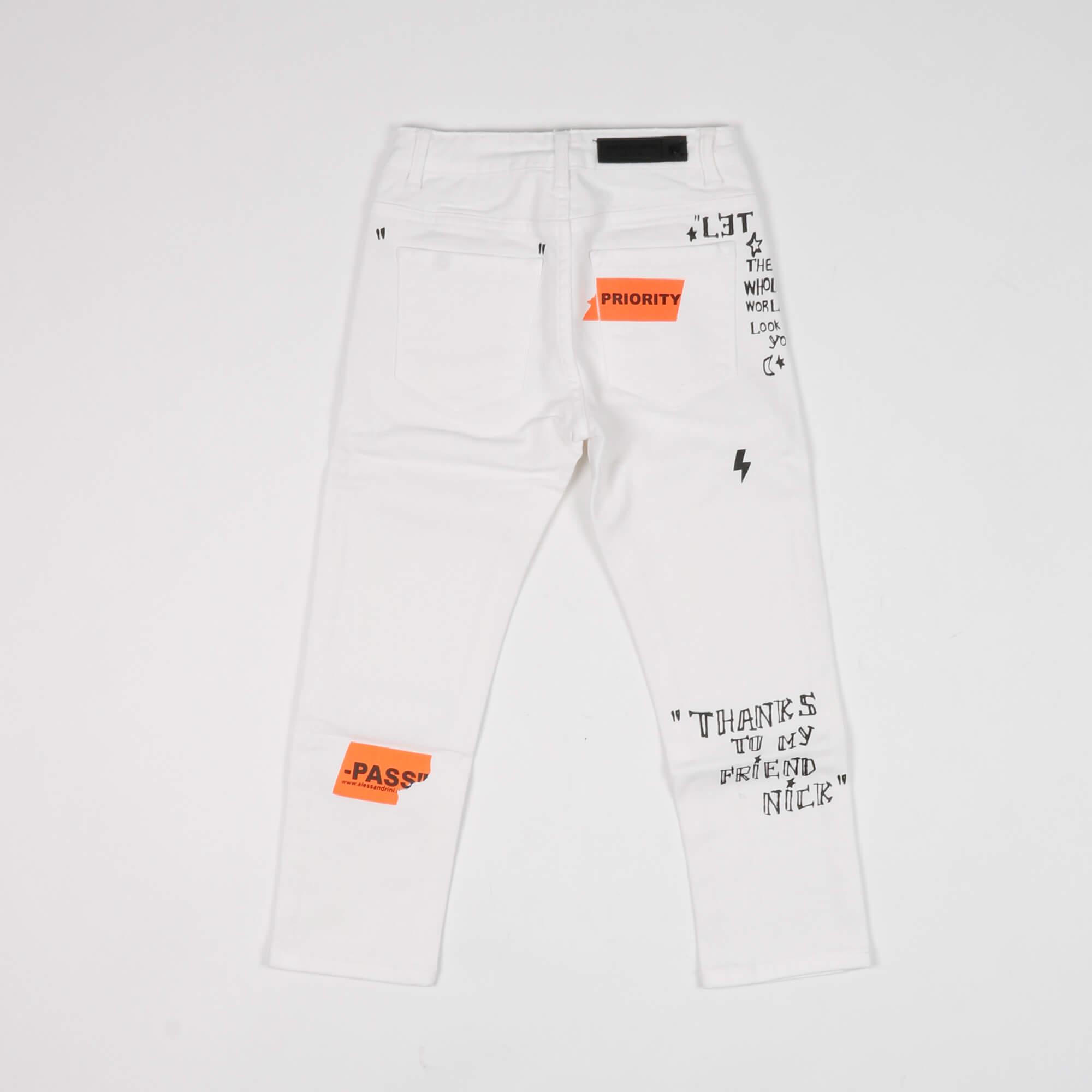 Pantalone priority - Bianco