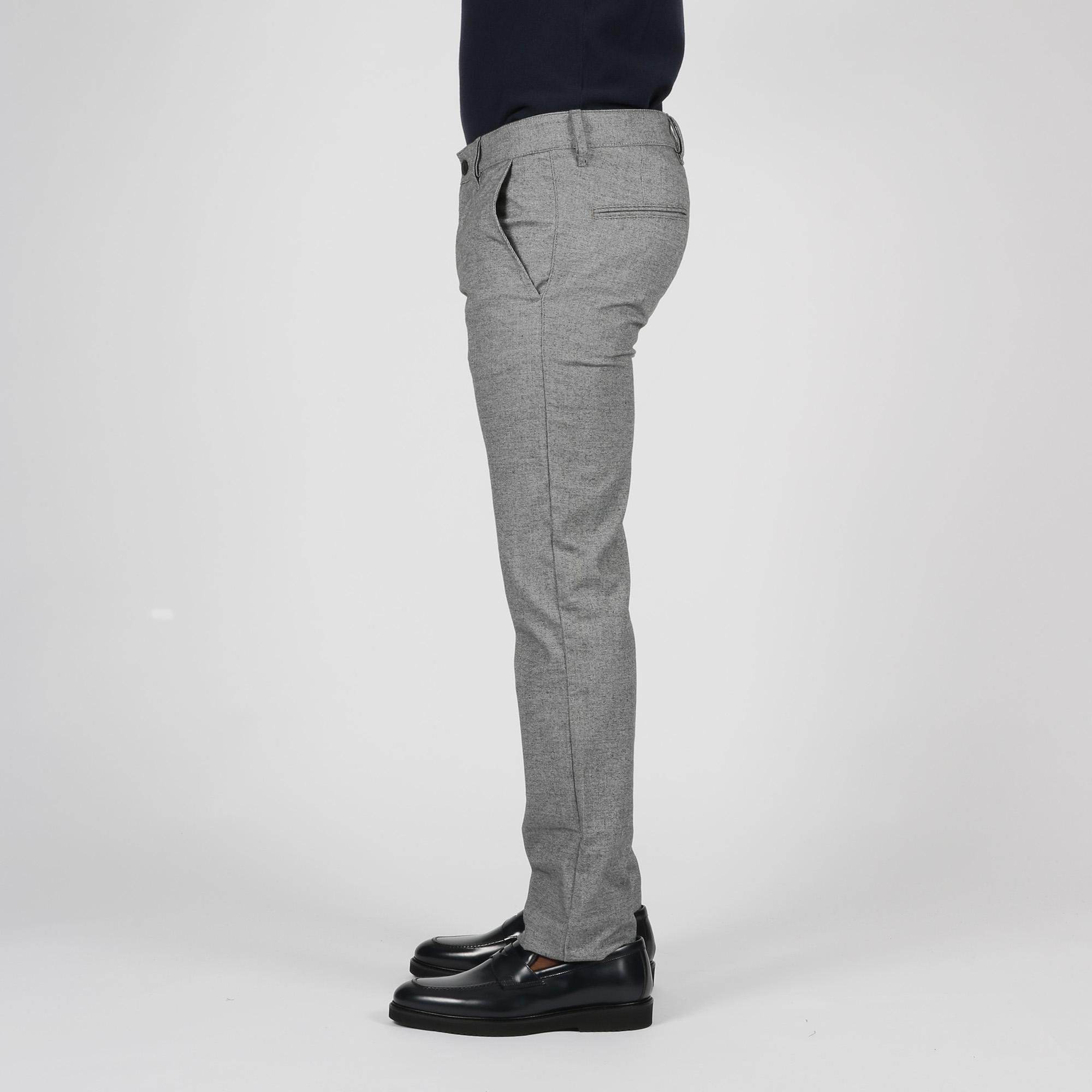 Pantalone pied-de-poule - Nero