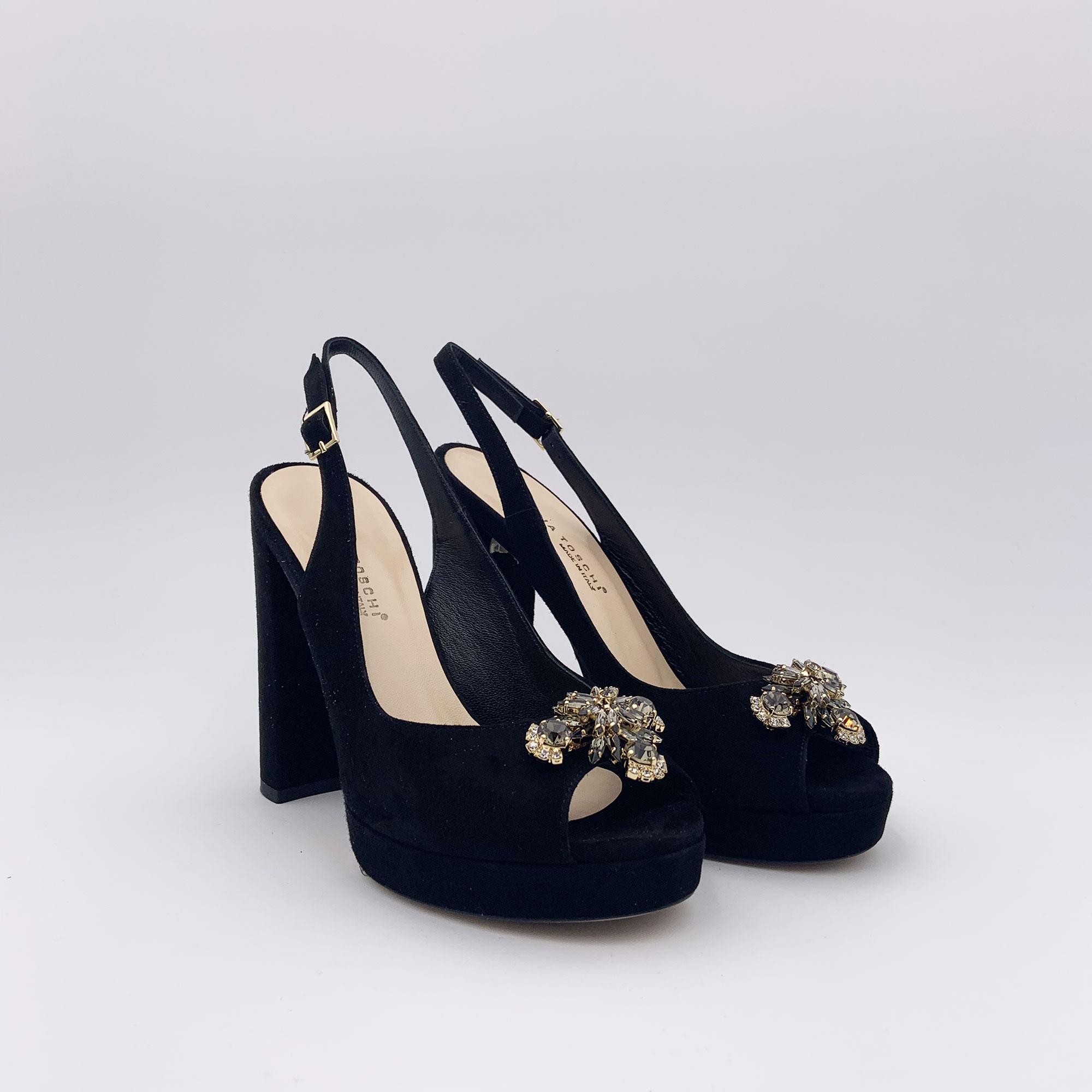 Sandalo chanel - Nero