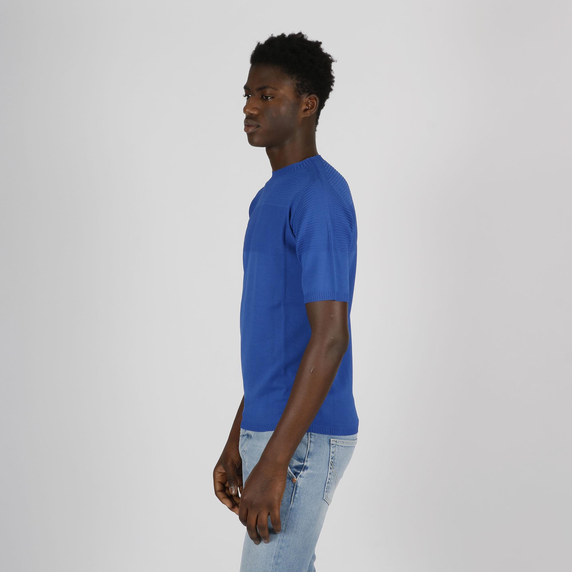 Paricollo punto e righe - Blu