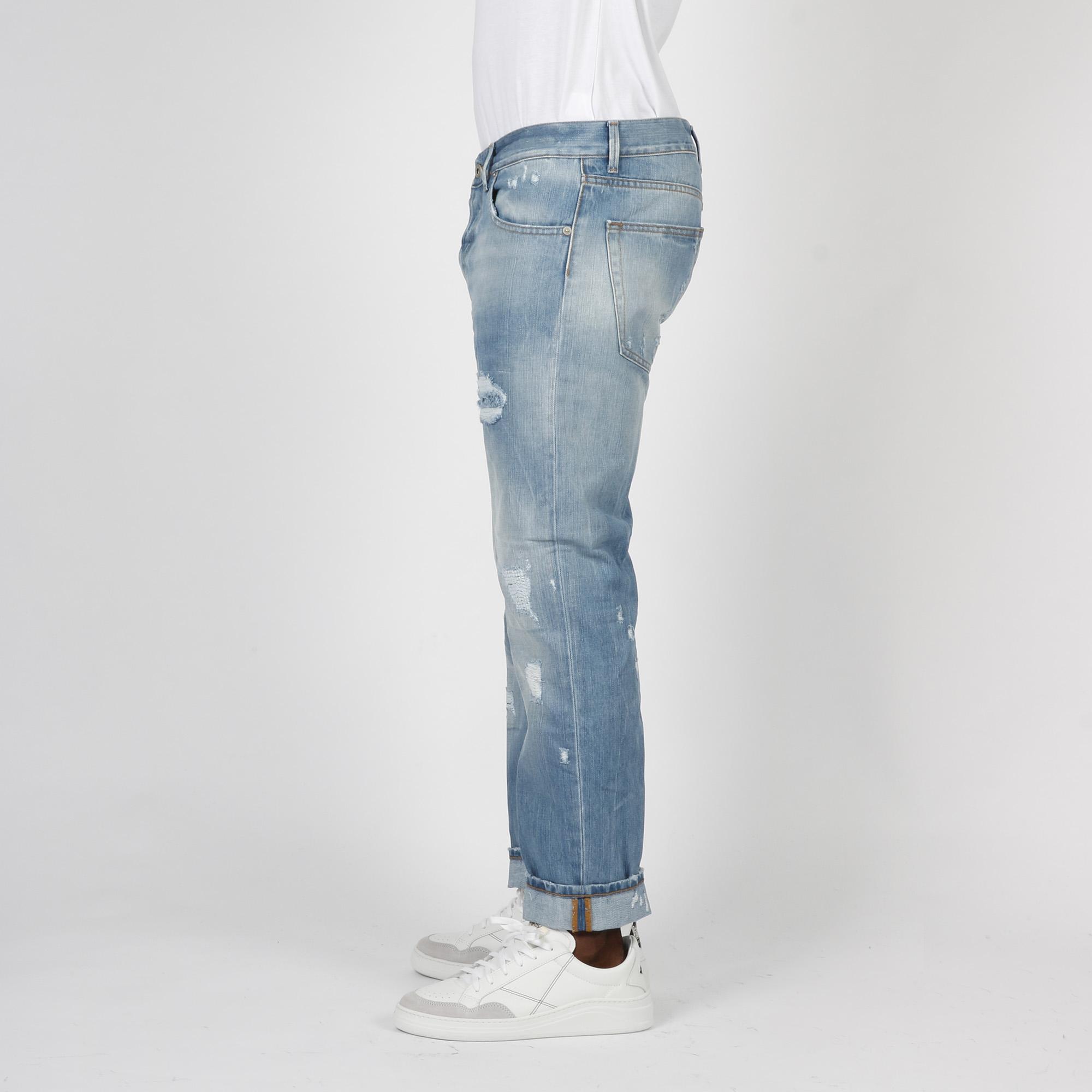 Jeans Spike strappi - Denim chiaro