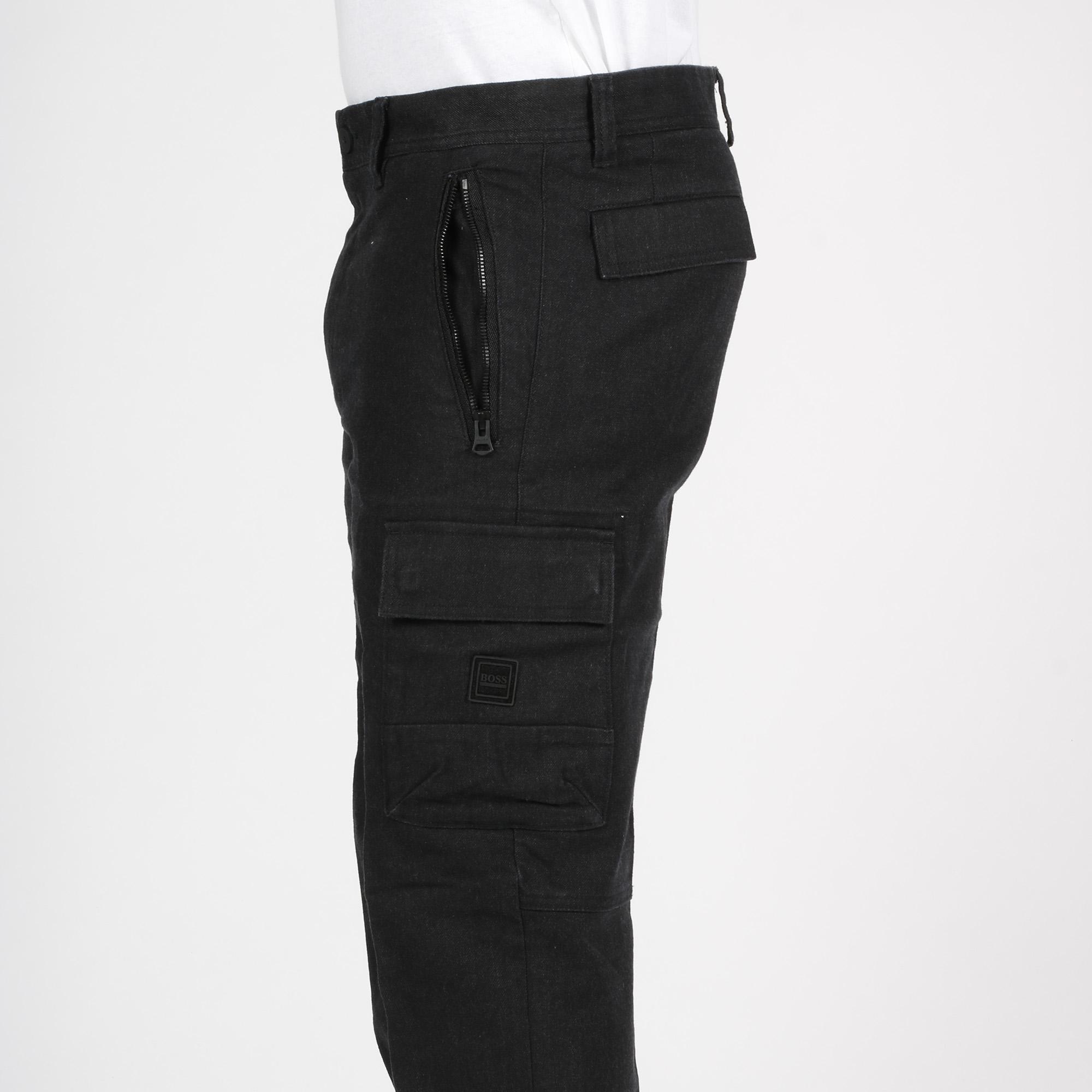 Pantalone tasconato twill - Nero