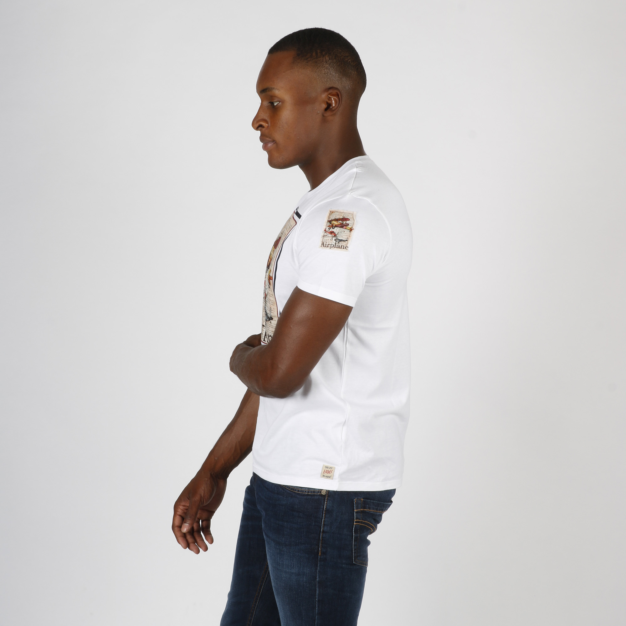 T-shirt airplane - Bianco
