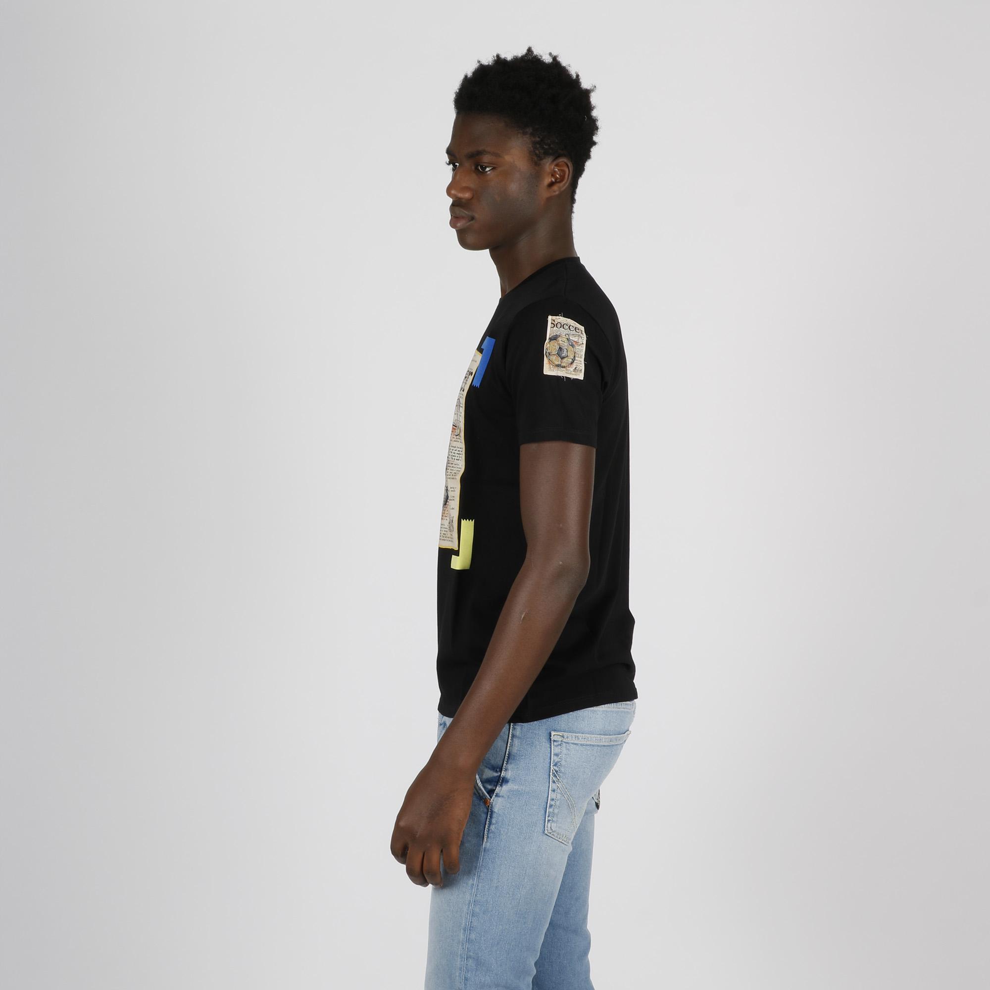T-shirt soccer - Nero