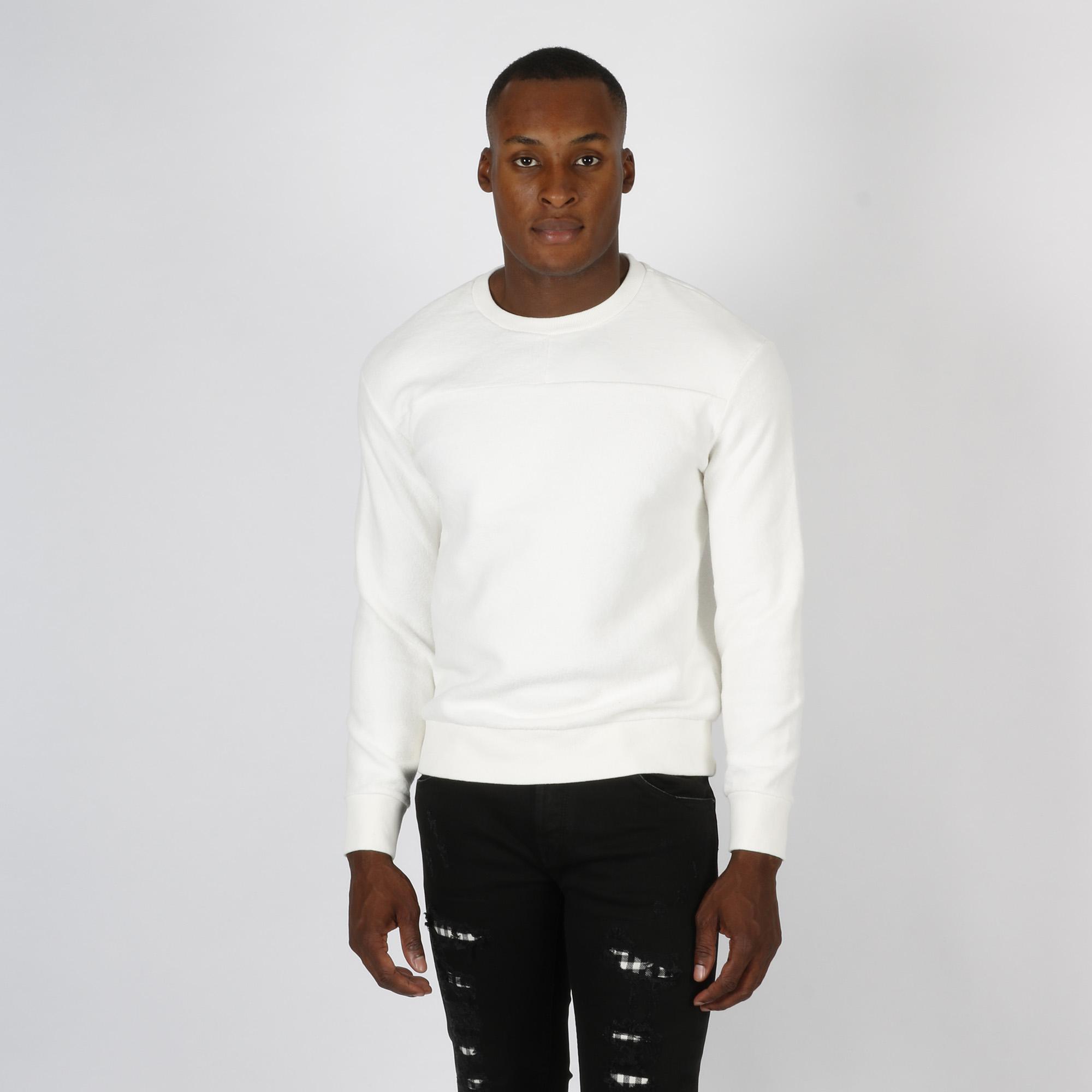 Felpa logo schiena - Bianco