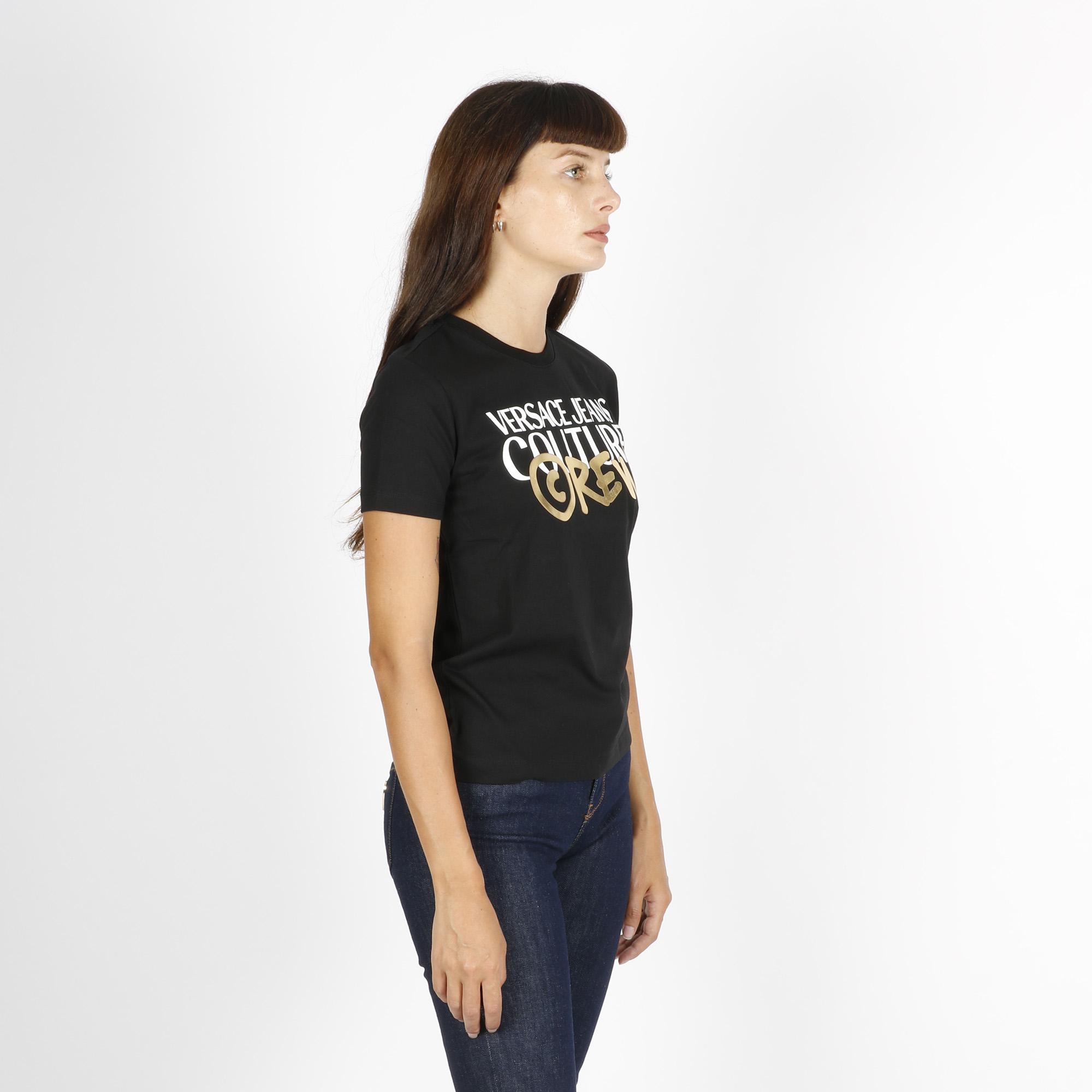 T-shirt logo crew - Nero