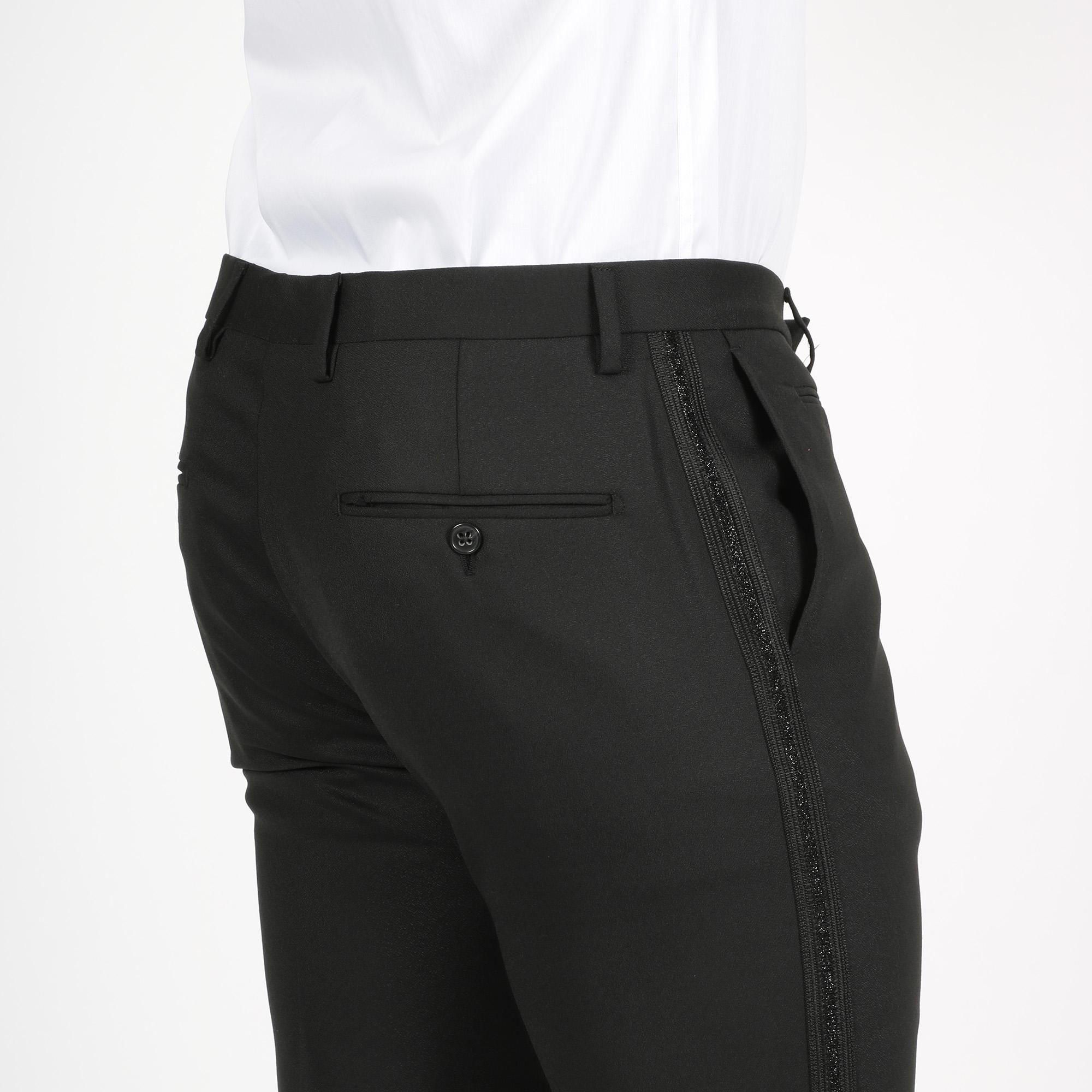 Pantalone fascia lurex - Nero