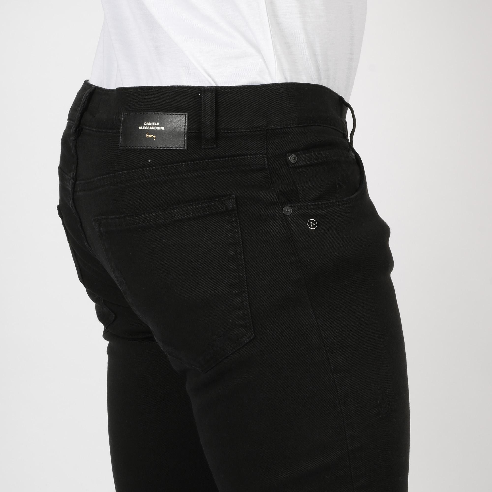 Pantalone 5 tasche grey - Nero