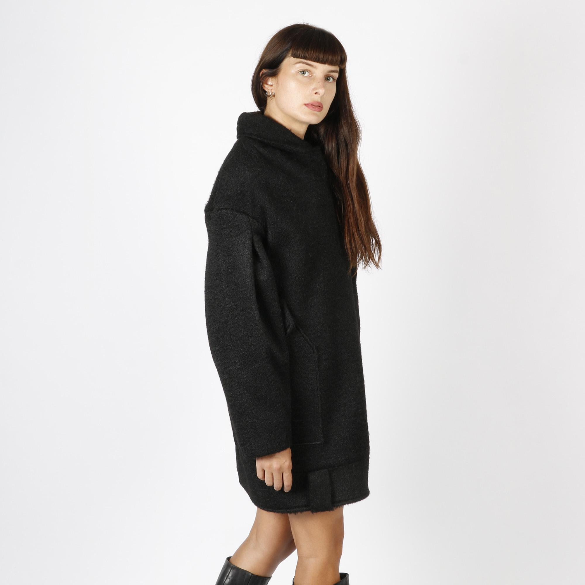 Cappotto in panno morbido - Nero