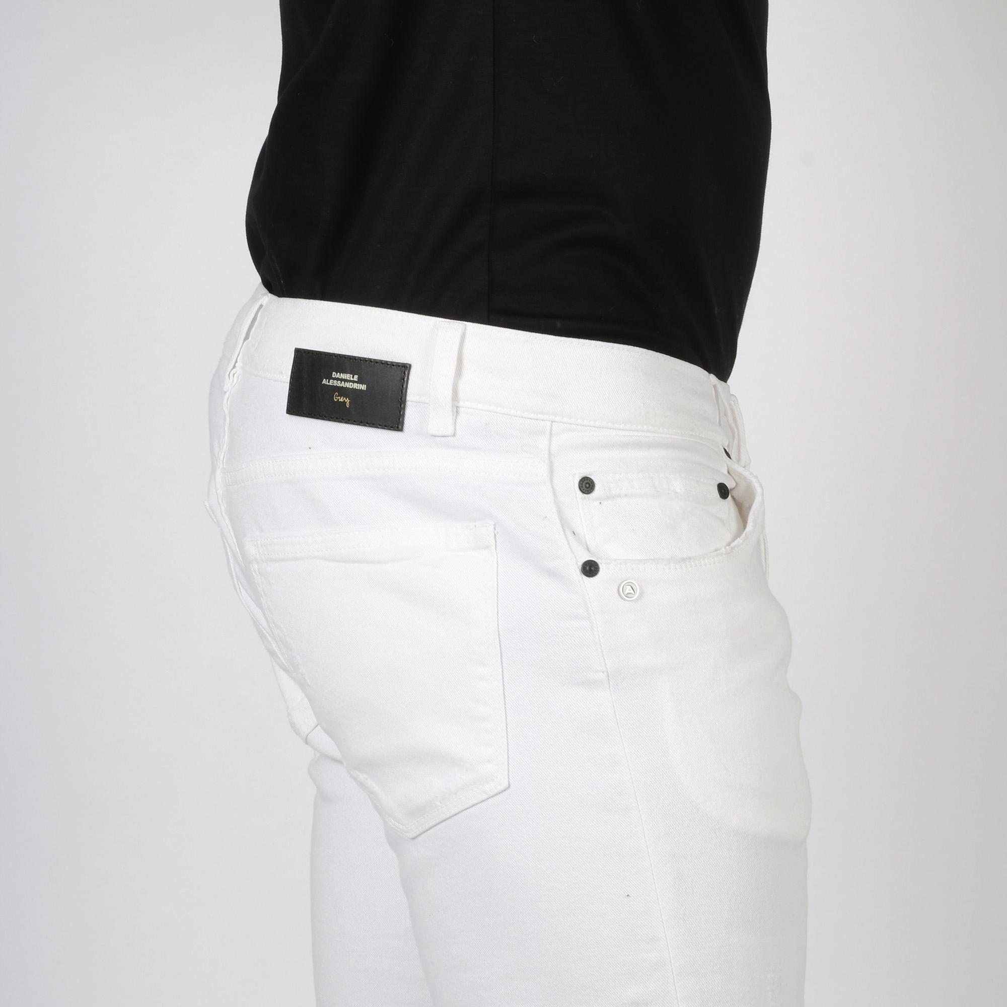 Pantalone 5 tasche grey - Bianco