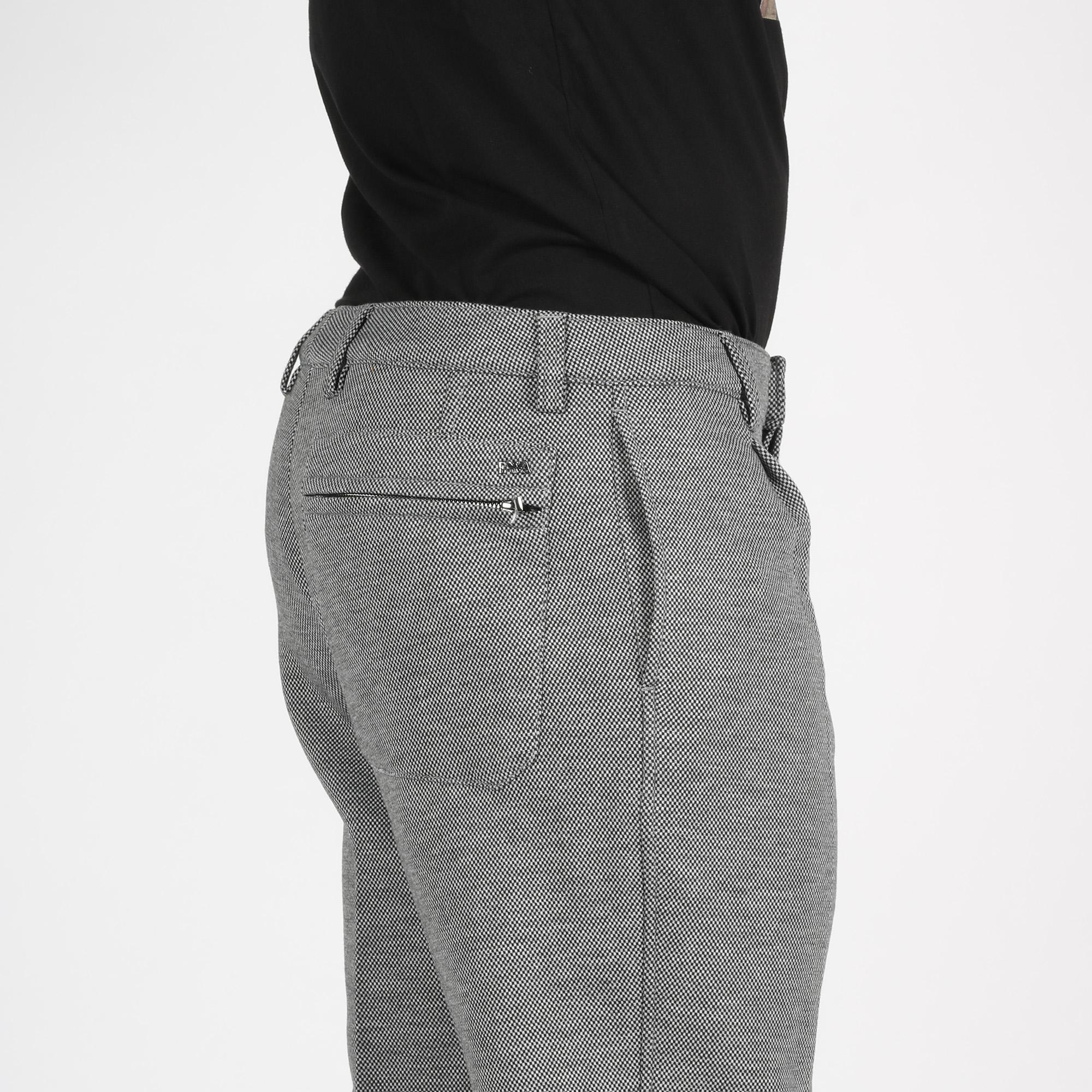 Pantalone chino micropuntinato - Grigio