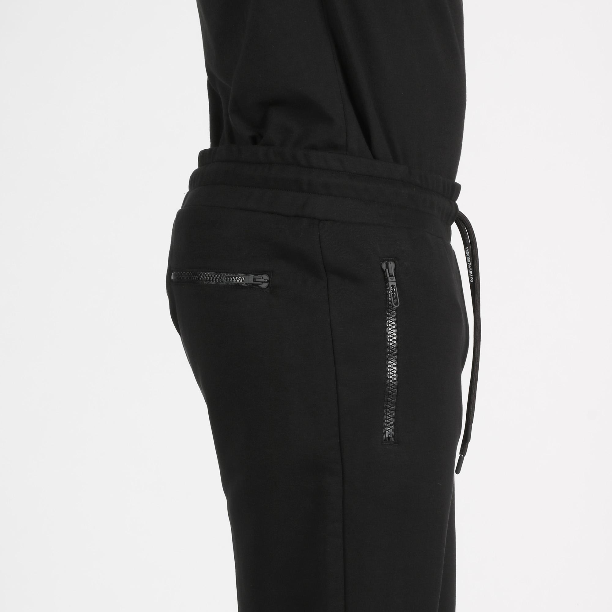 Pantalone ricamo logo - Nero