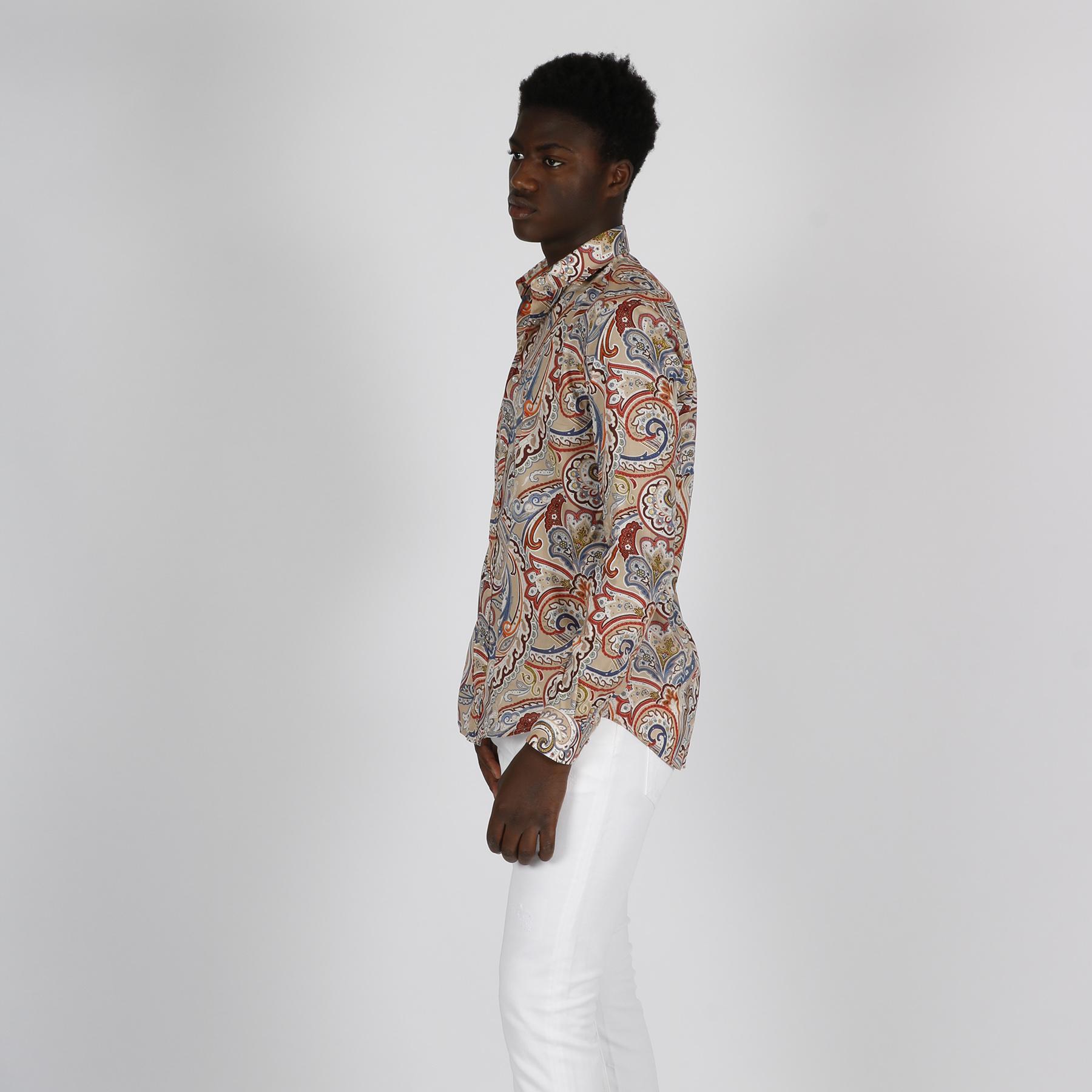 Camicia stampa cachemere- Multicolor