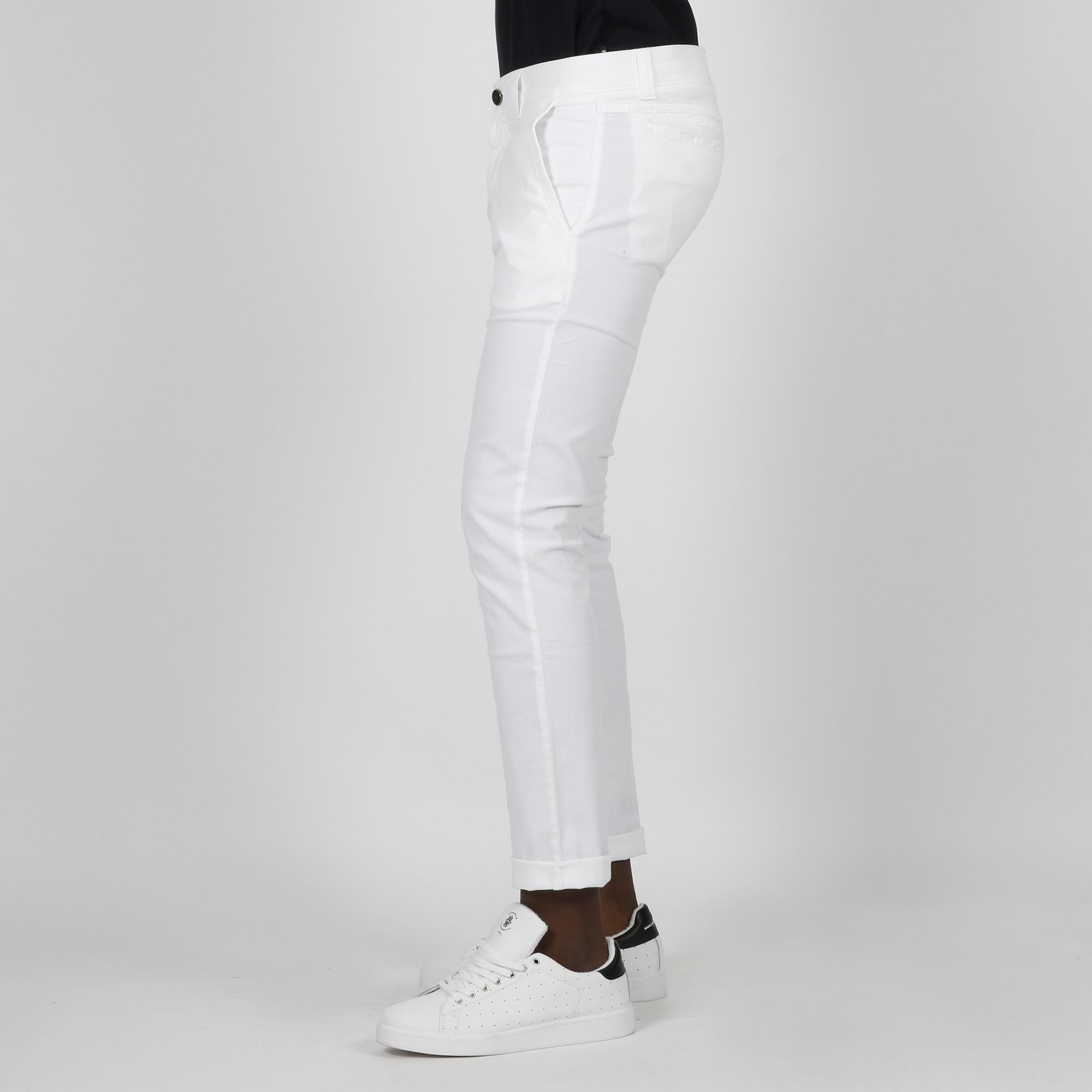 Pantalone new draw micro motivo - Bianco