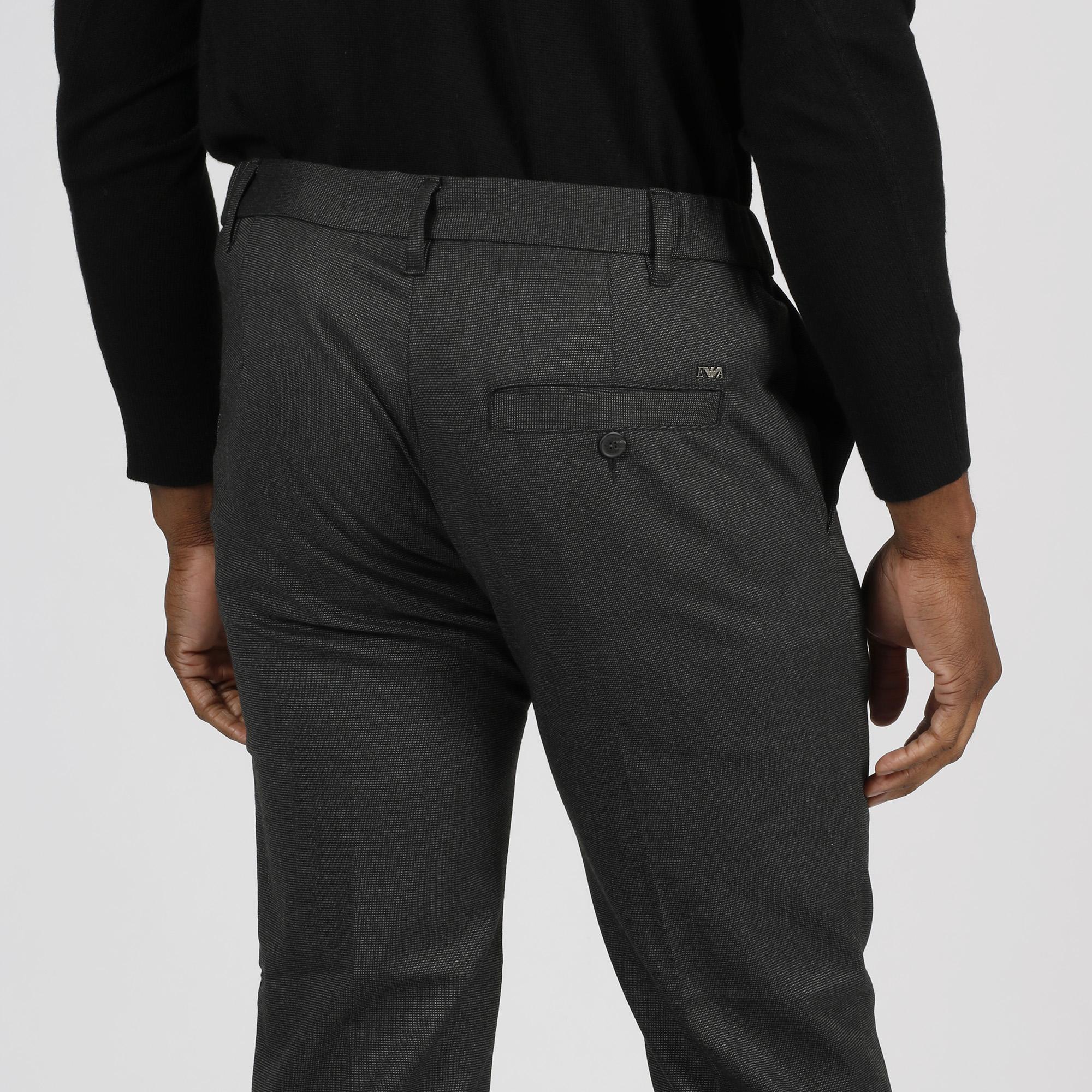Pantalone micro puntini - Grigio