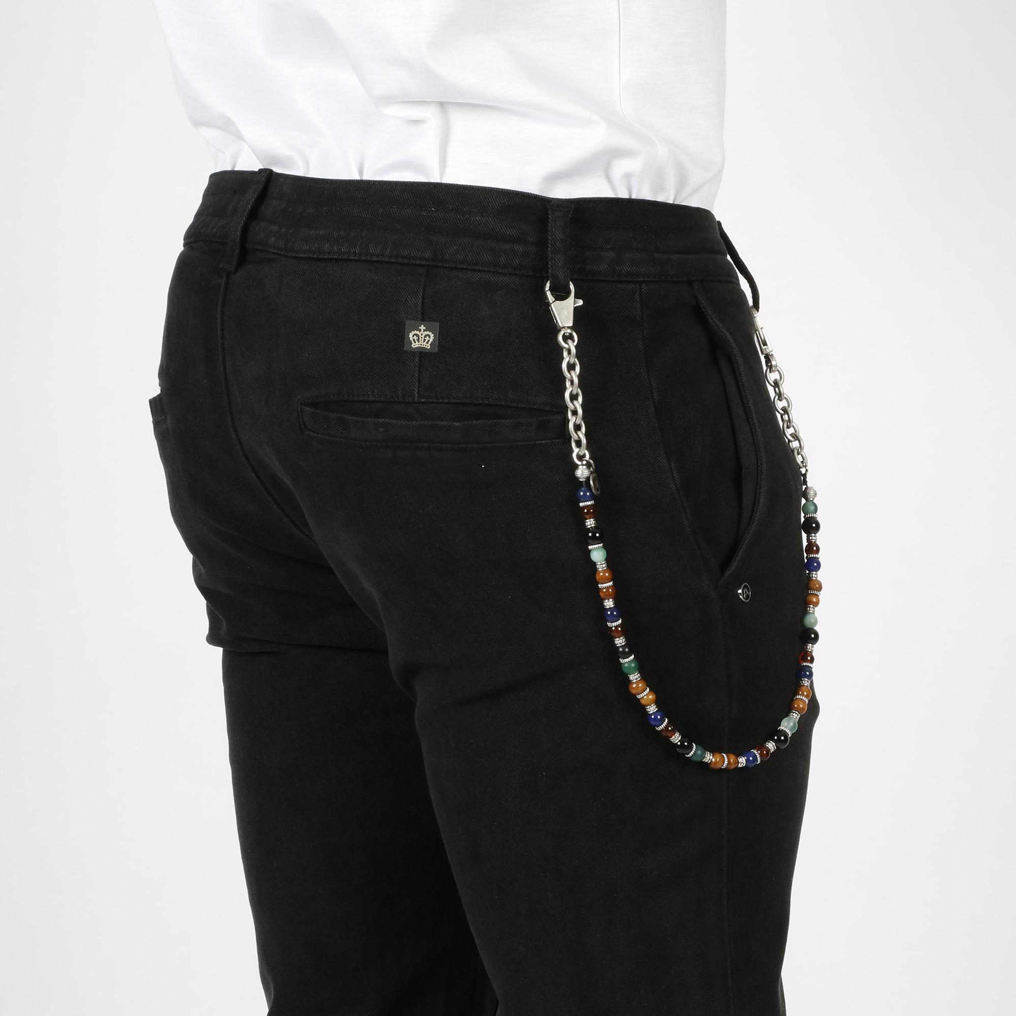 Pantalone con catena - Nero