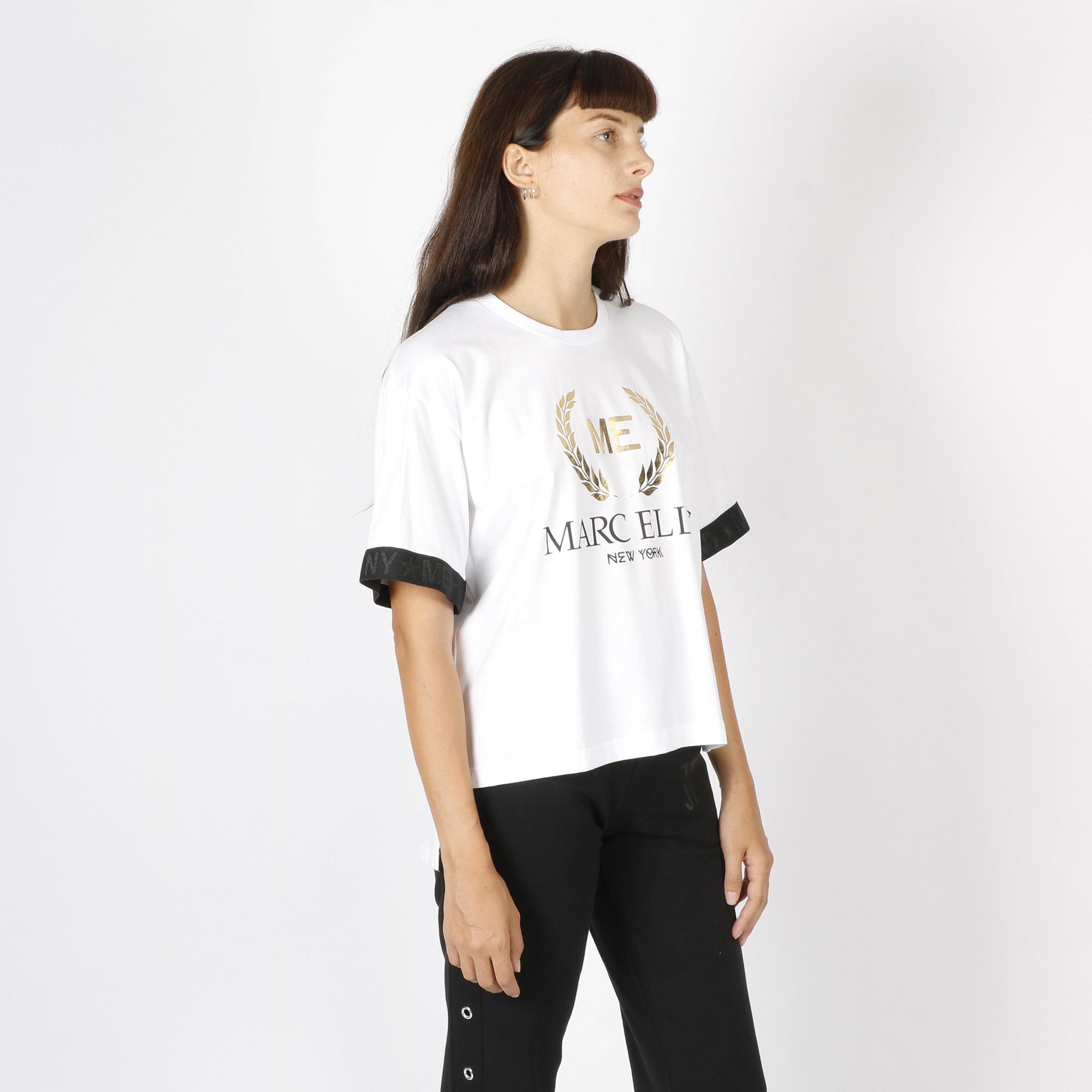 Maglia logo oro - Bianco