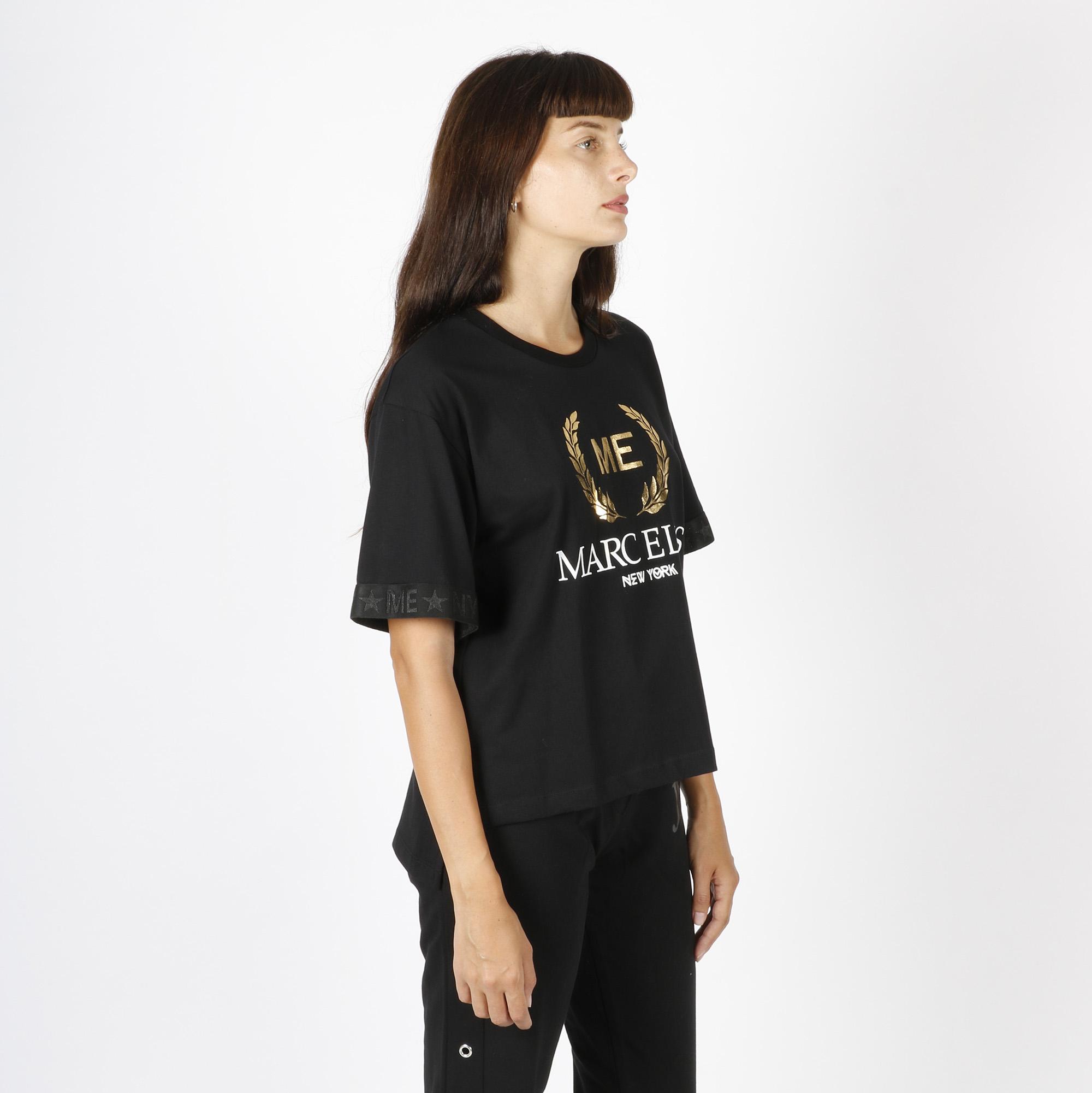 Maglia logo oro - Nero