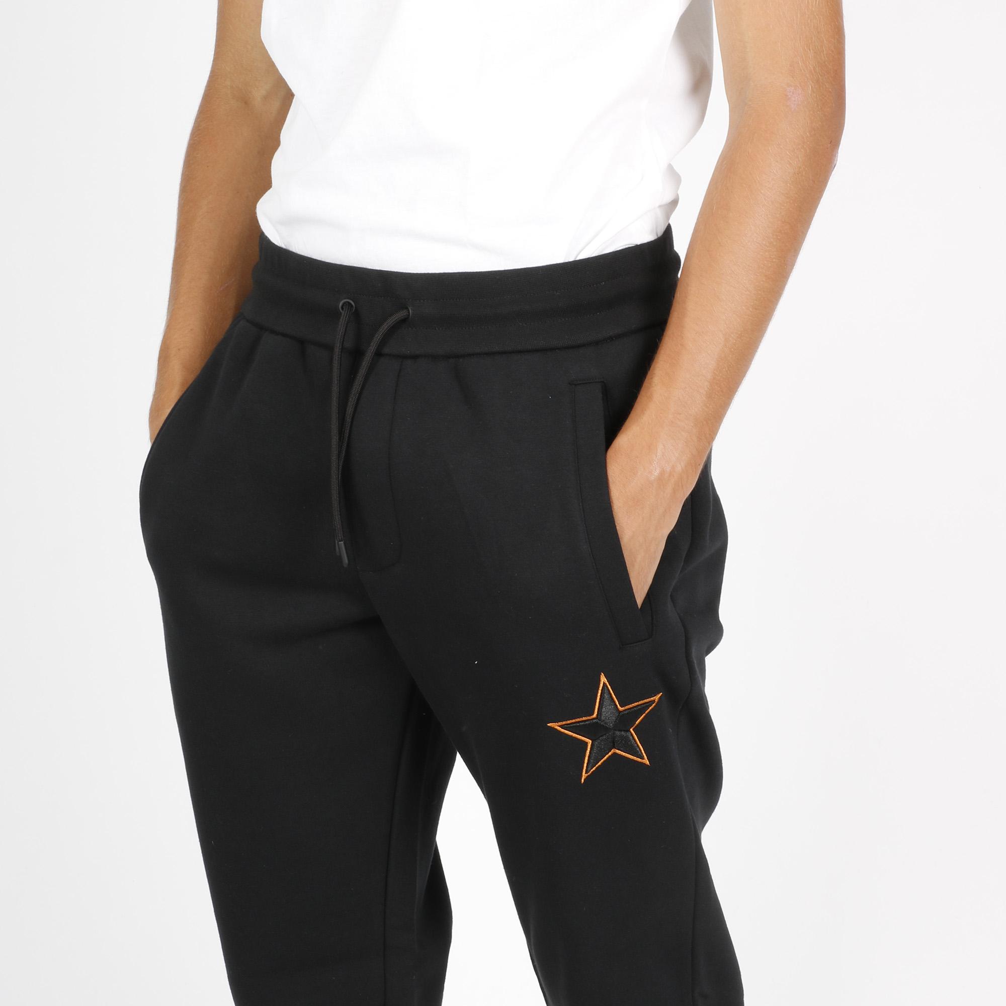 Pantalone stella ricamo - Nero