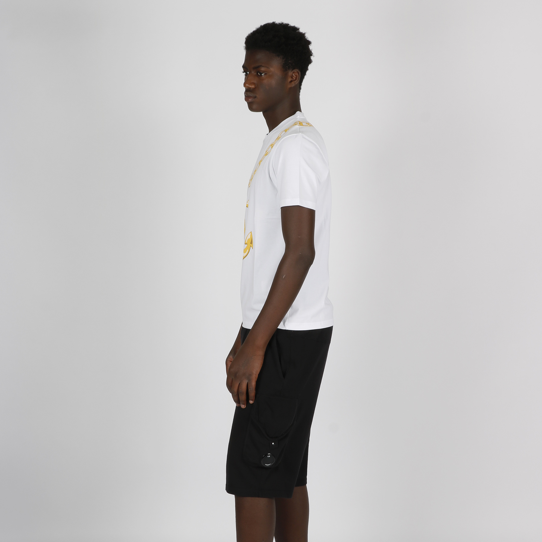 T-shirt stampa ancora - Bianco