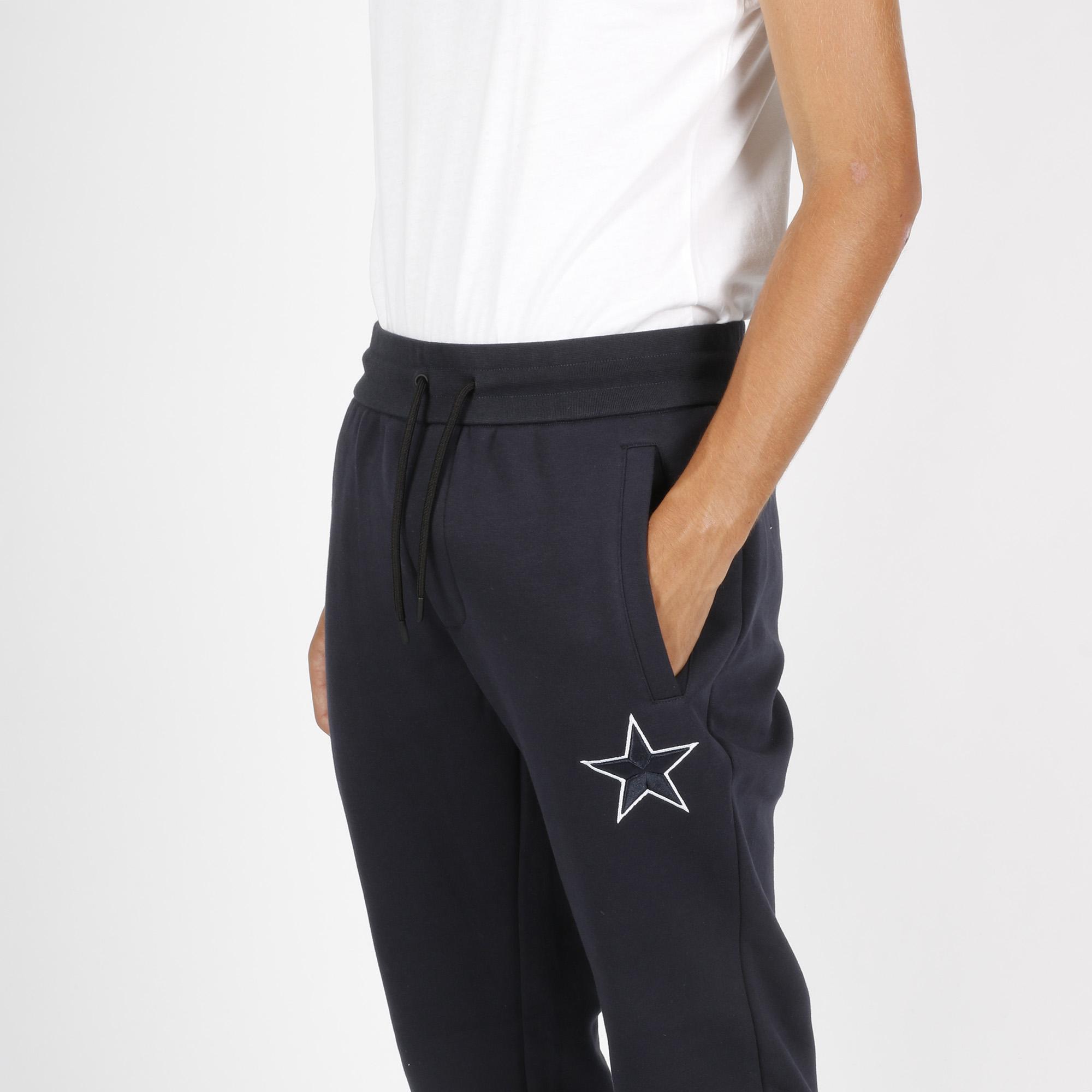 Pantalone stella ricamo - Blu navy