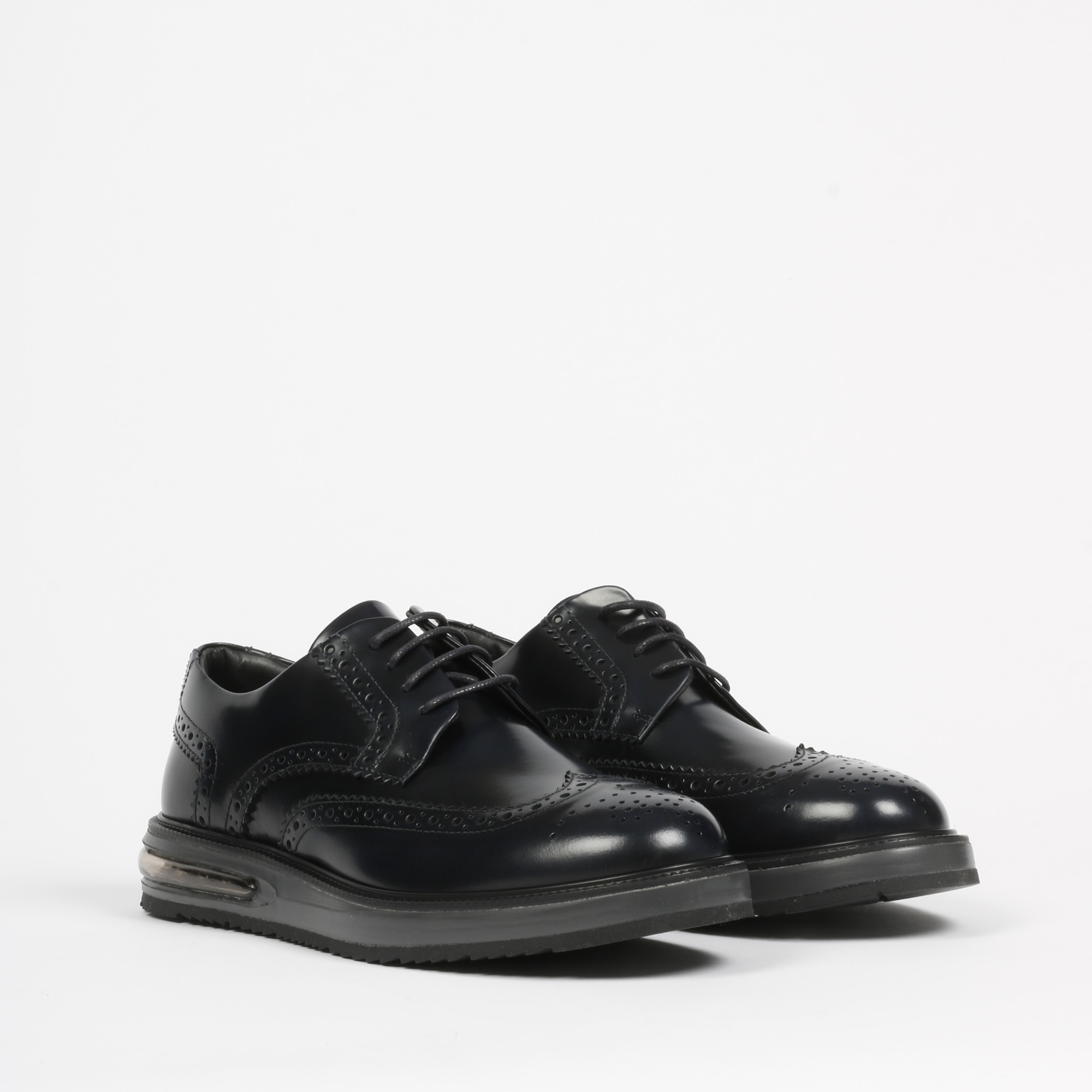 Air brogue leather - Blu