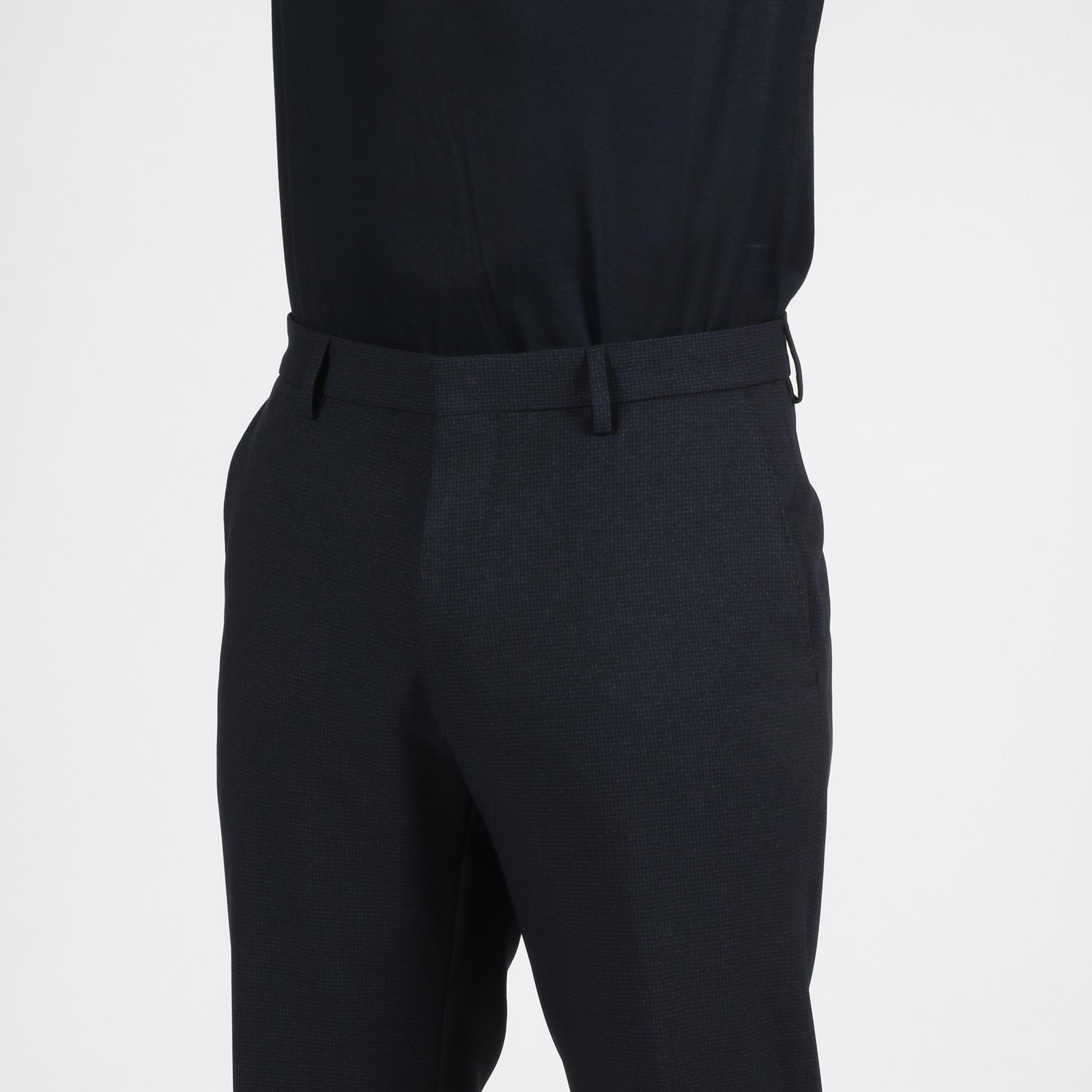 Pantalone micro fantasia - Blu scuro