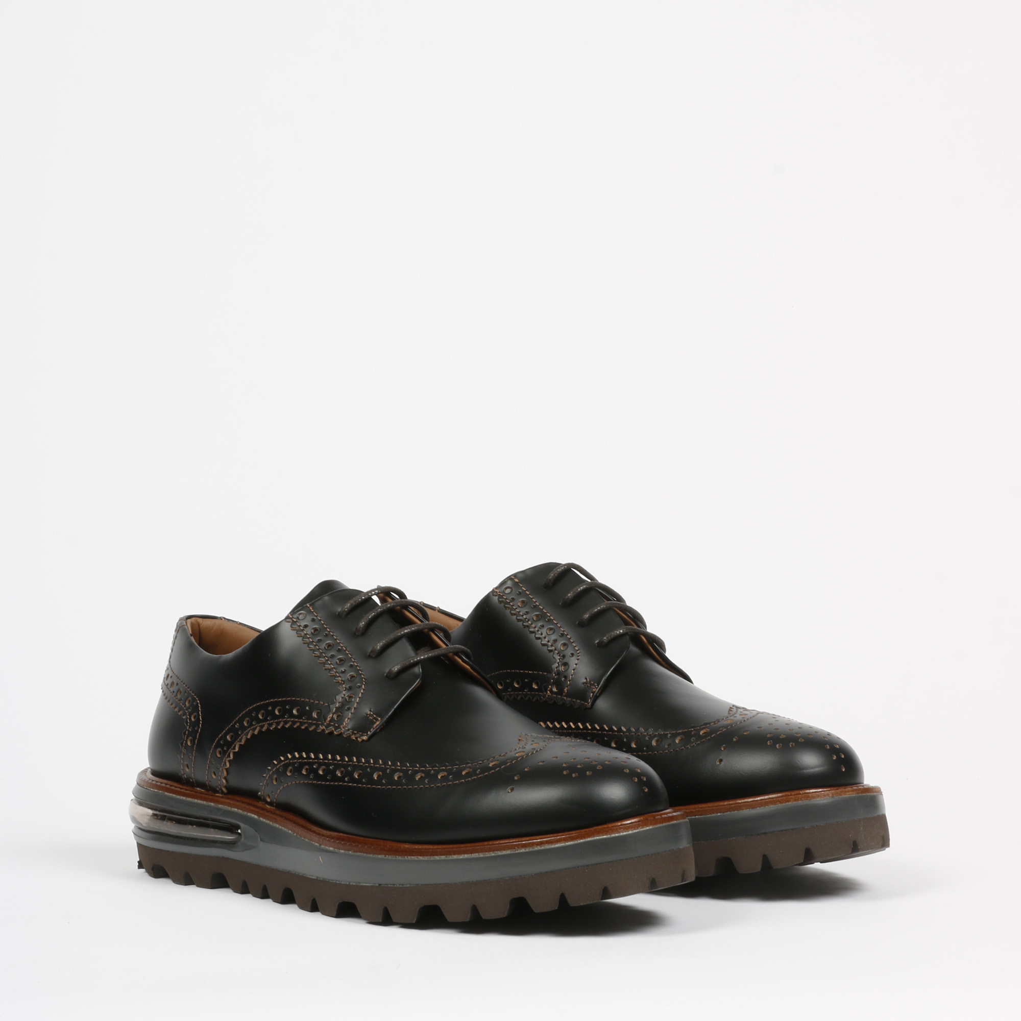 Air brogue heritage leather - Nero