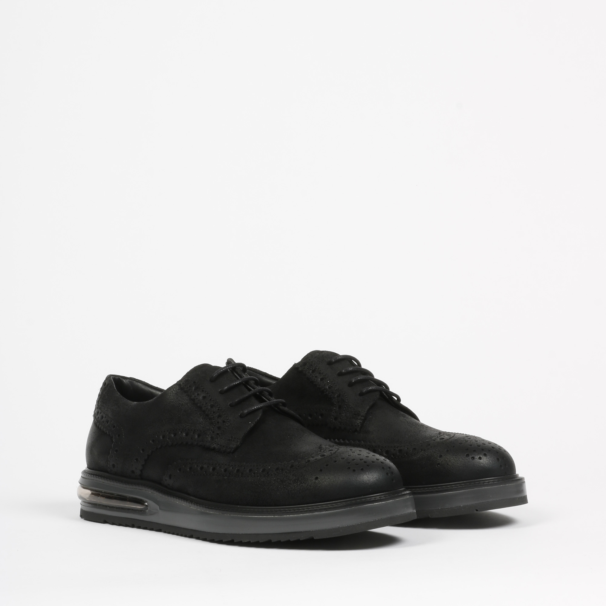Air brogue suede - Nero