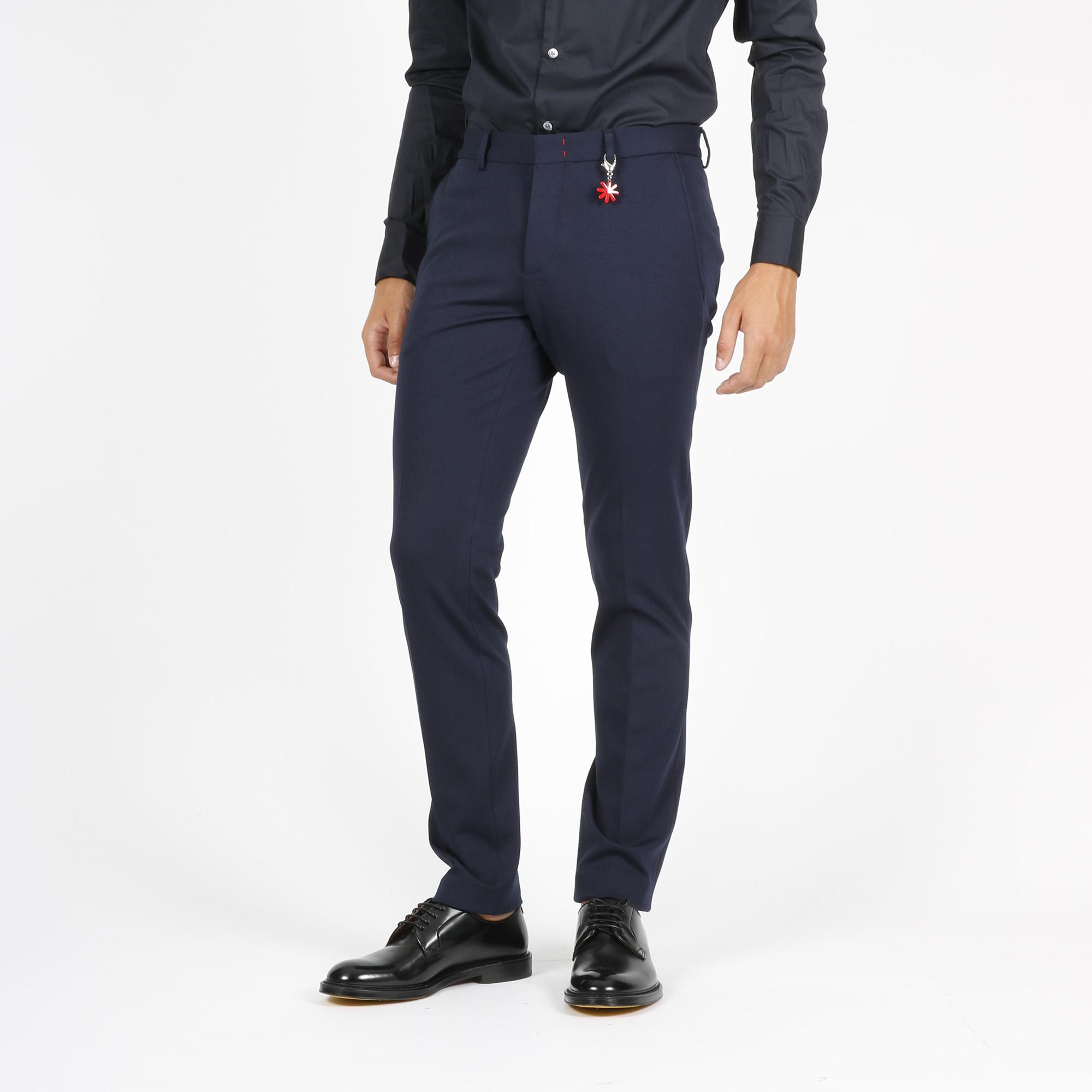 Pantalone classico slim - Blu