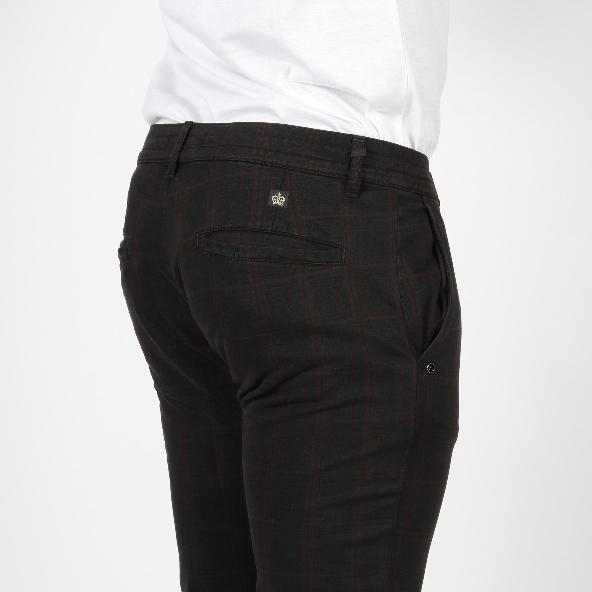 Pantalone quadro check - Antracite