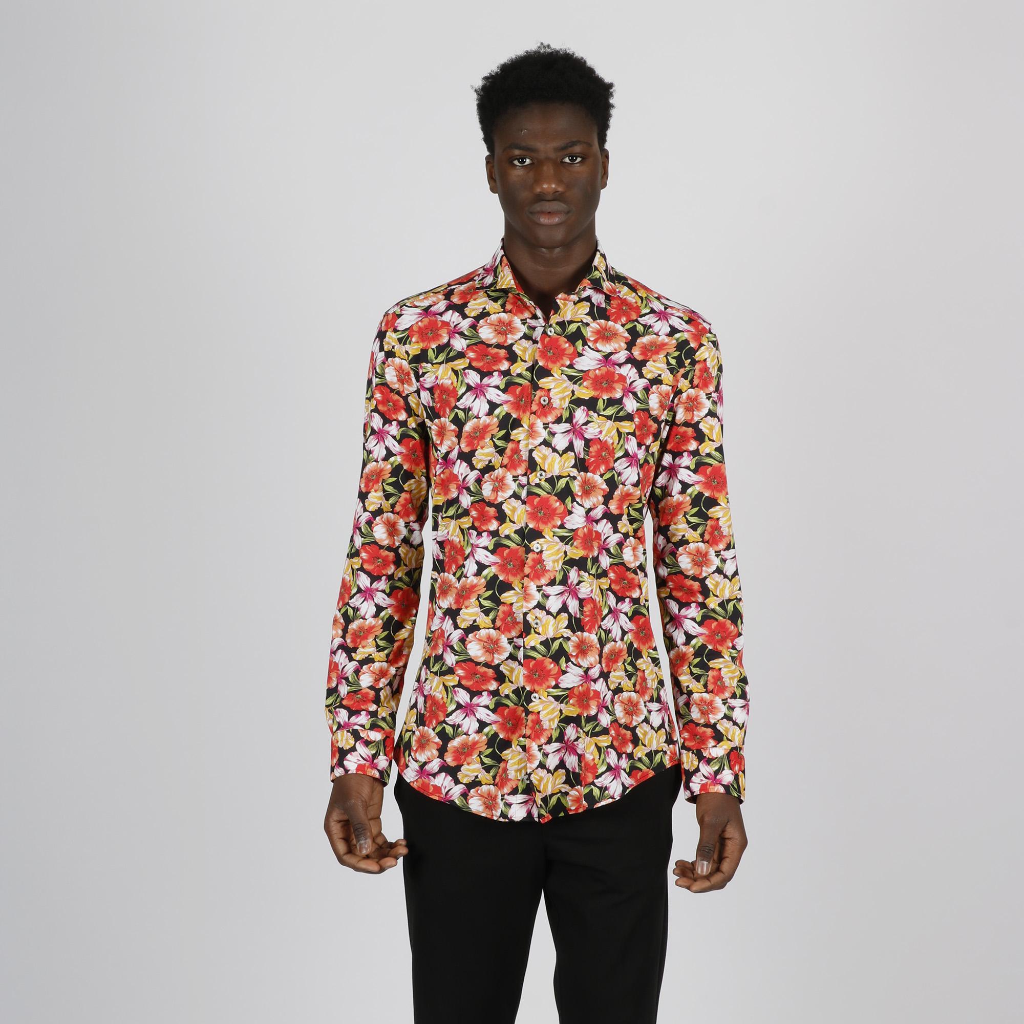 Camicia flowers - Rosso