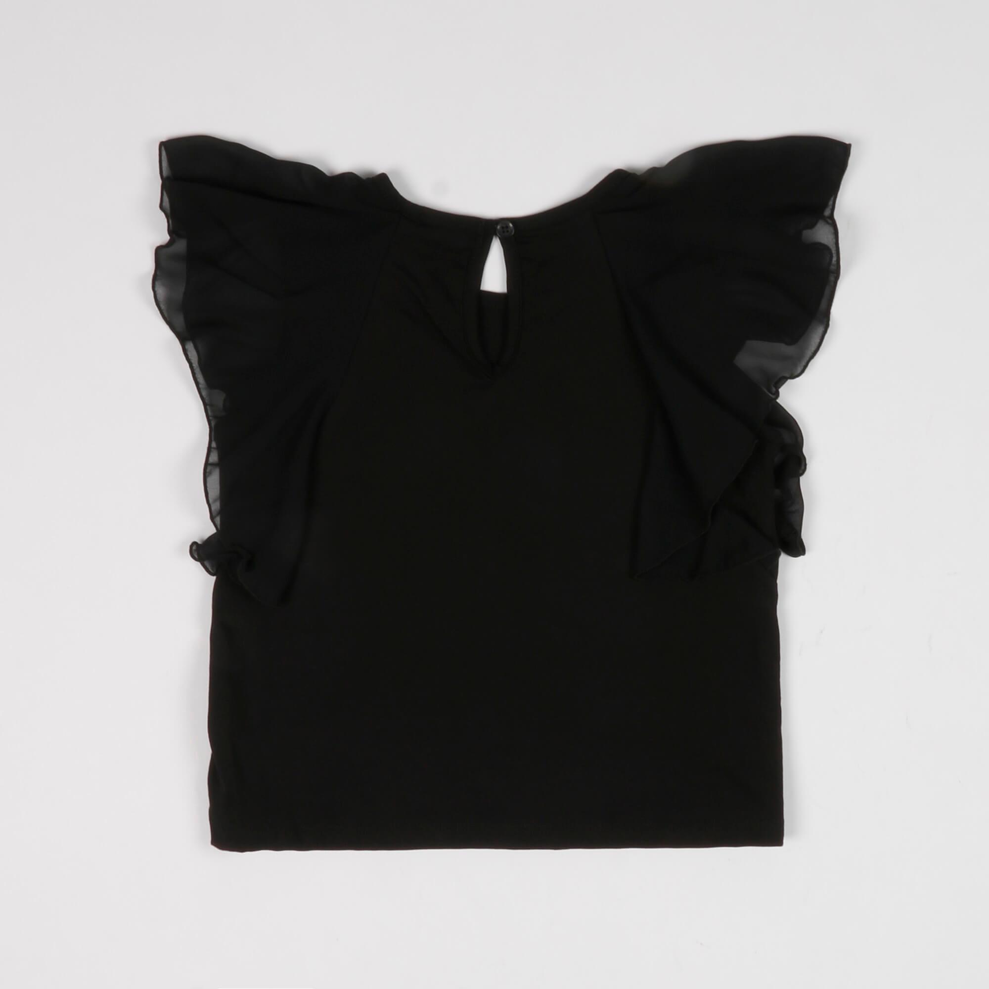 Blusa con rouches - Nero
