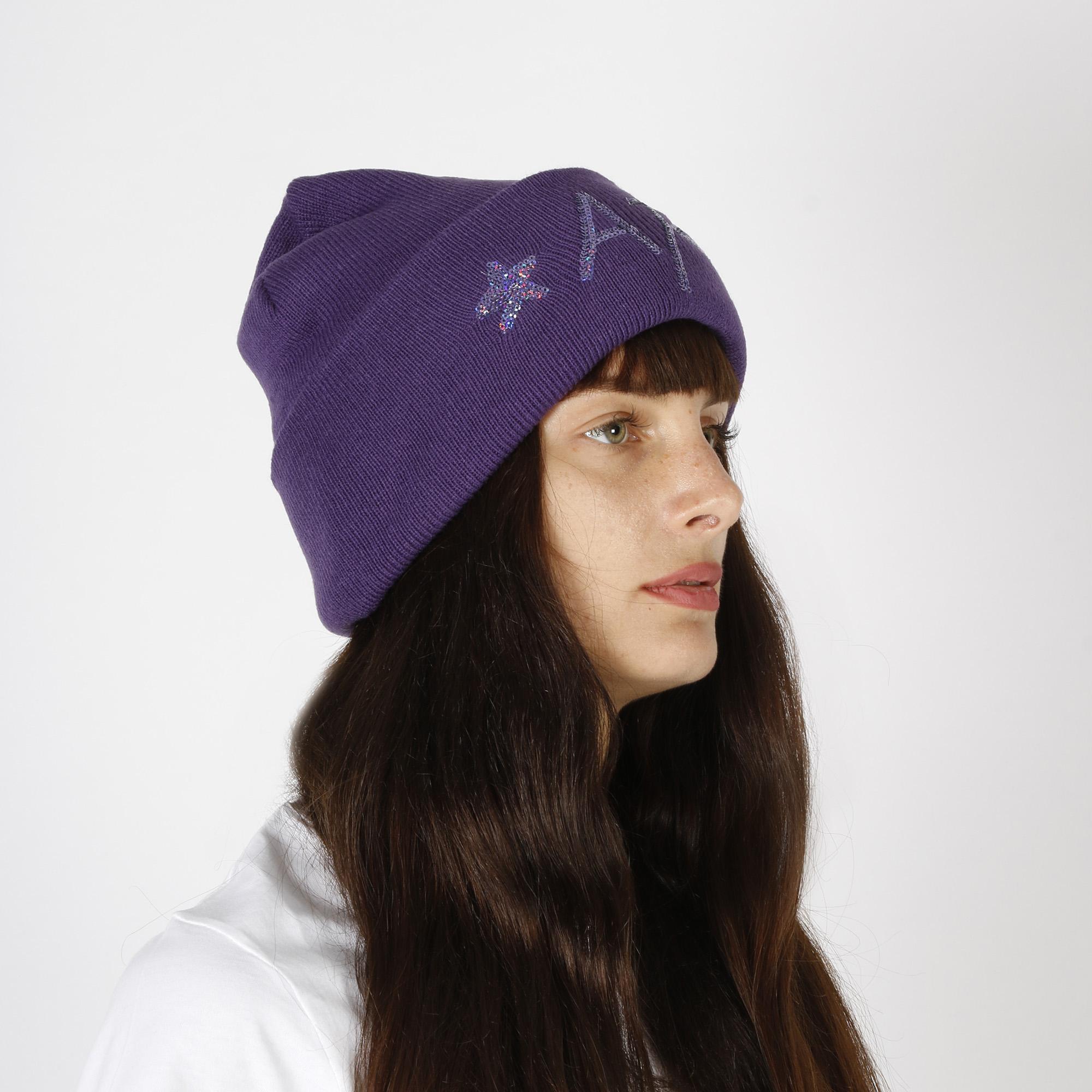 Cappello con paillettes - Viola