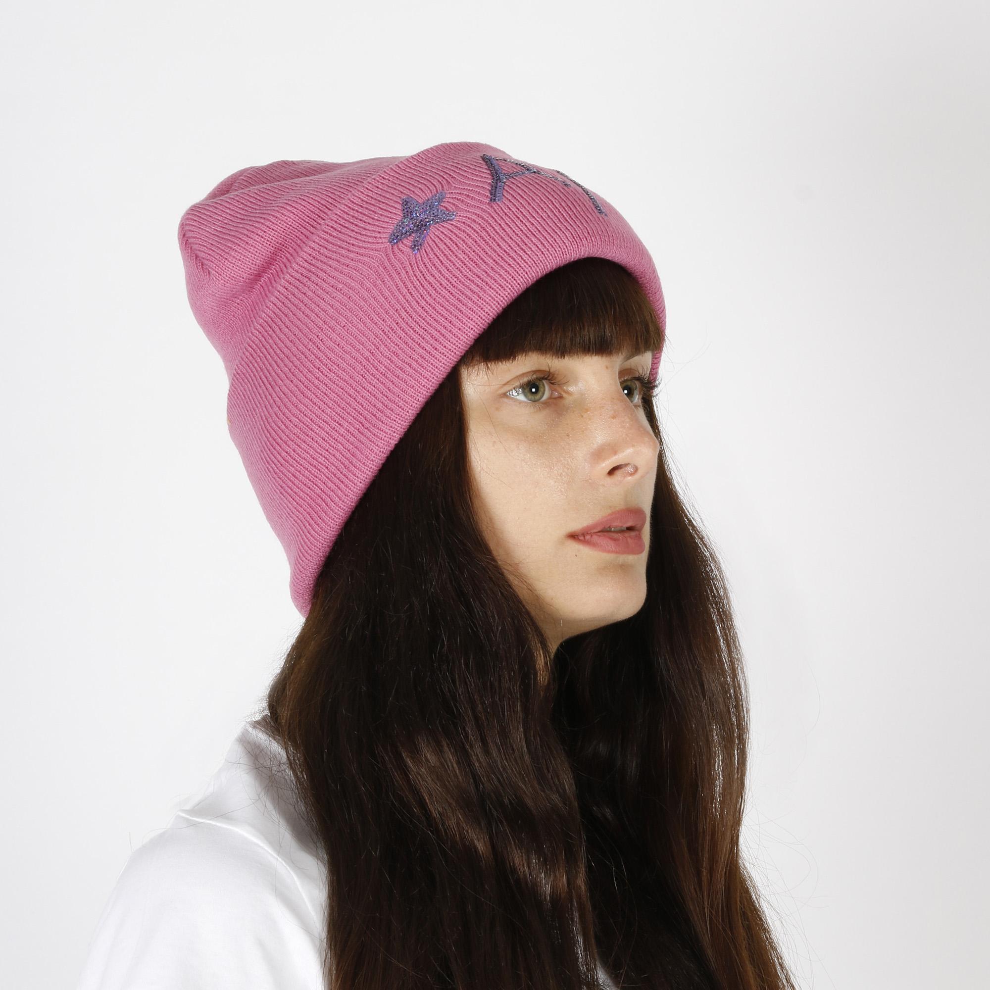 Cappello con paillettes - Rosa