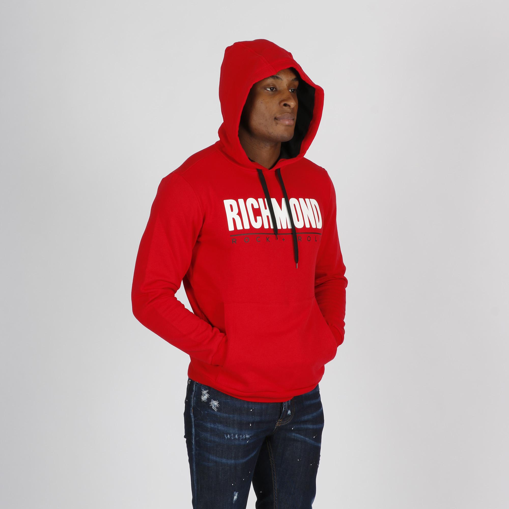 Felpa maxi logo - Rosso