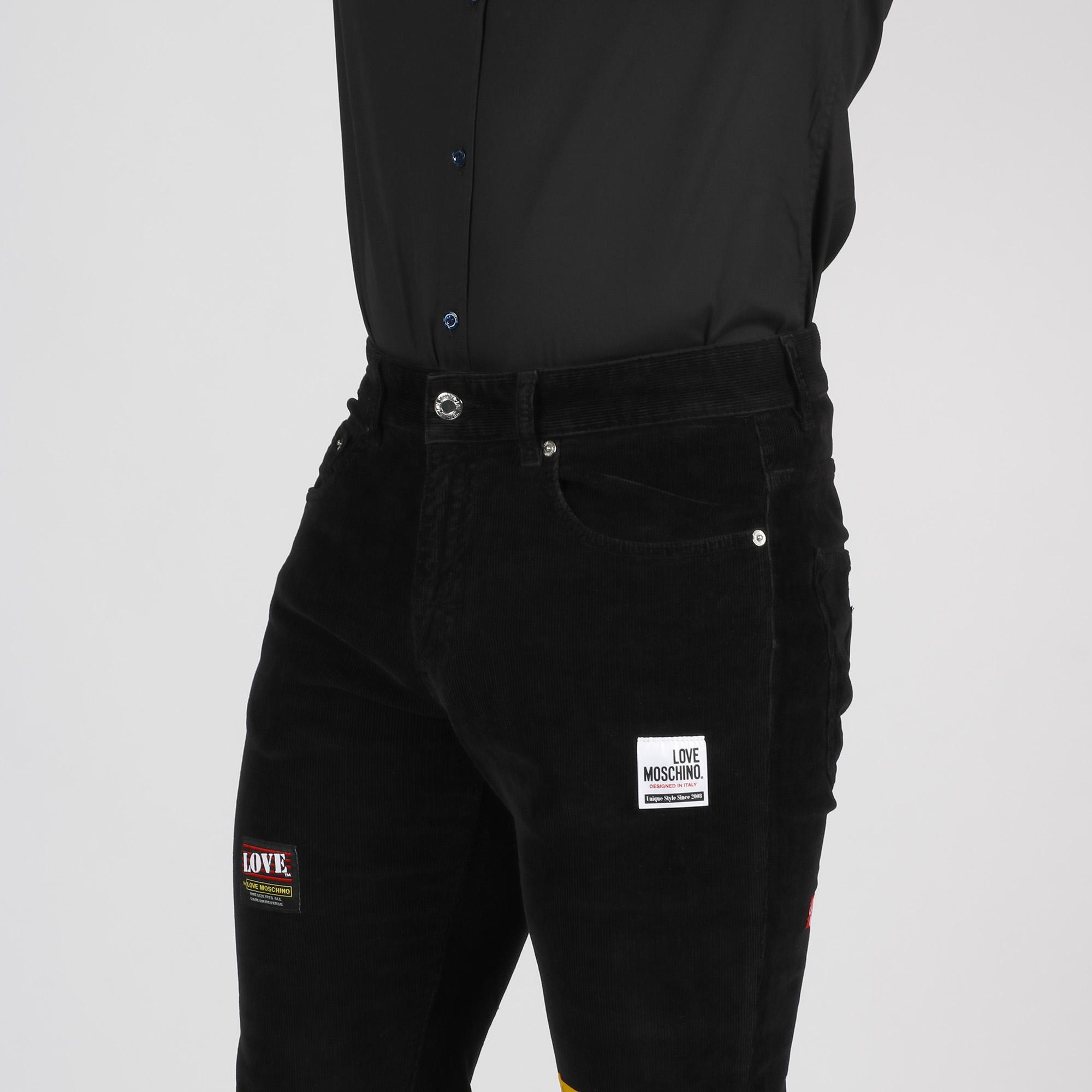 Pantalone velluto millerighe - Nero