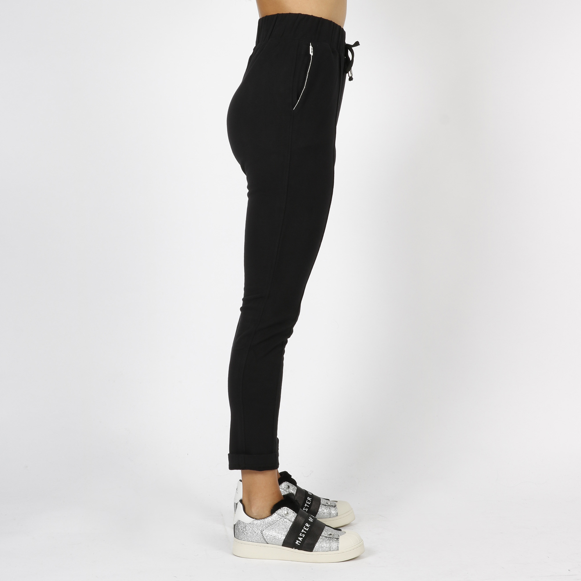Pantalone strass tasche - Nero