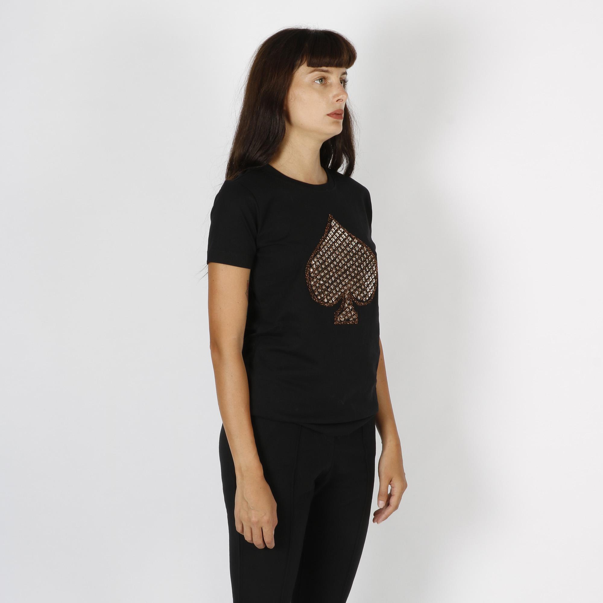 T-shirt picche - Nero