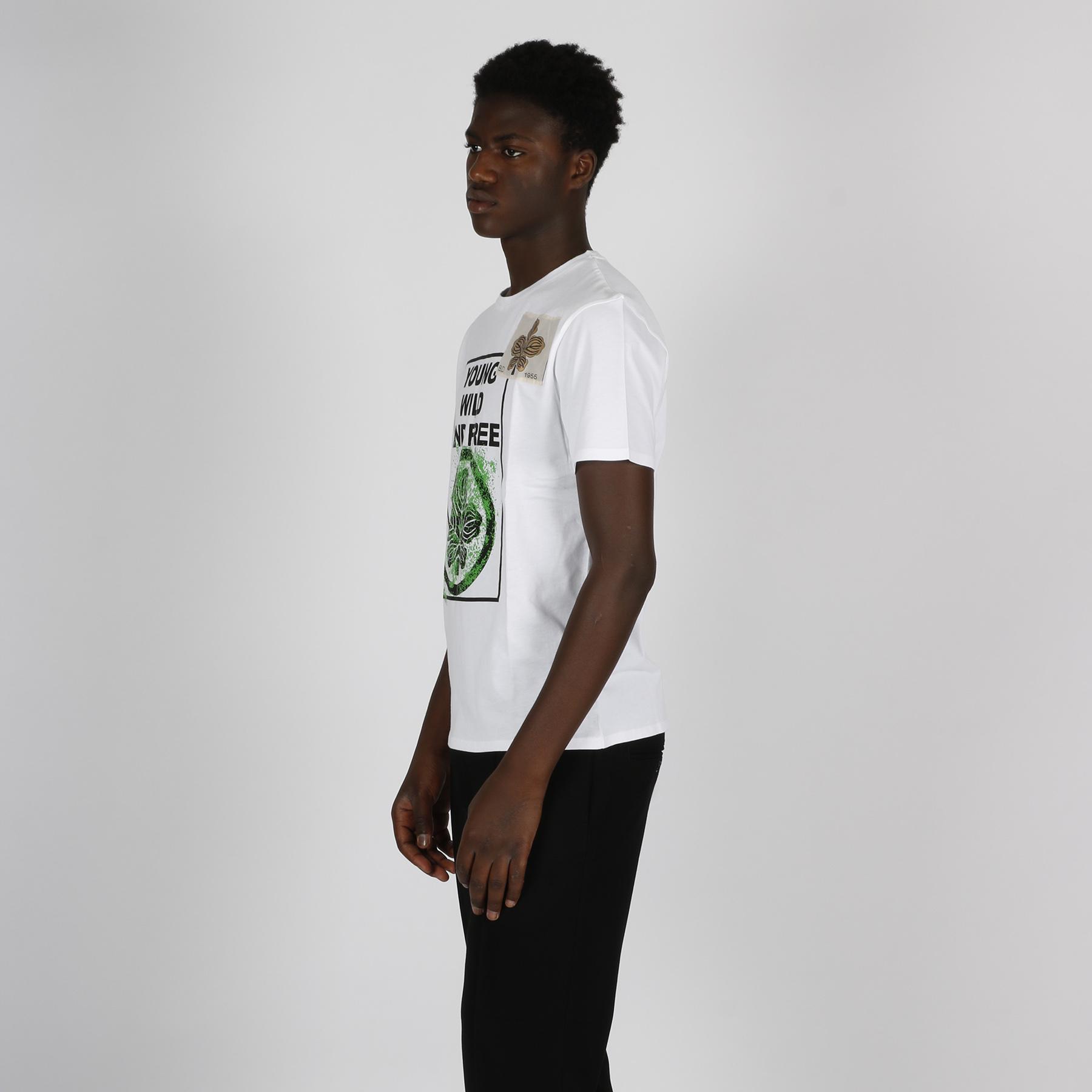 T-shirt stampa foglia - Bianco