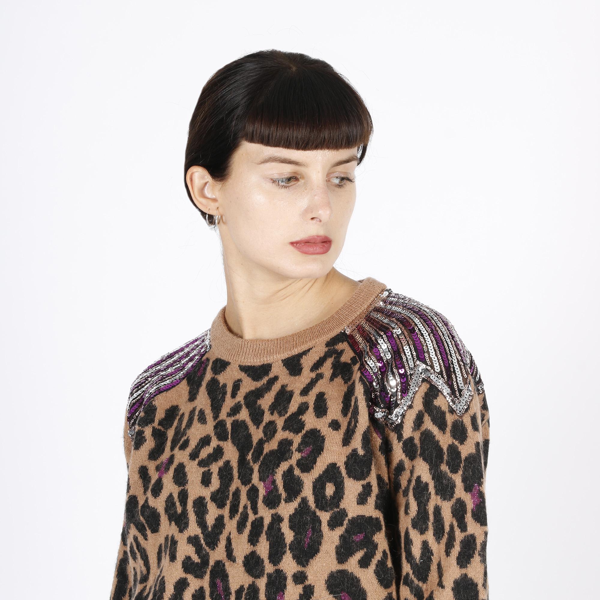 Pullover leopard - Marrone