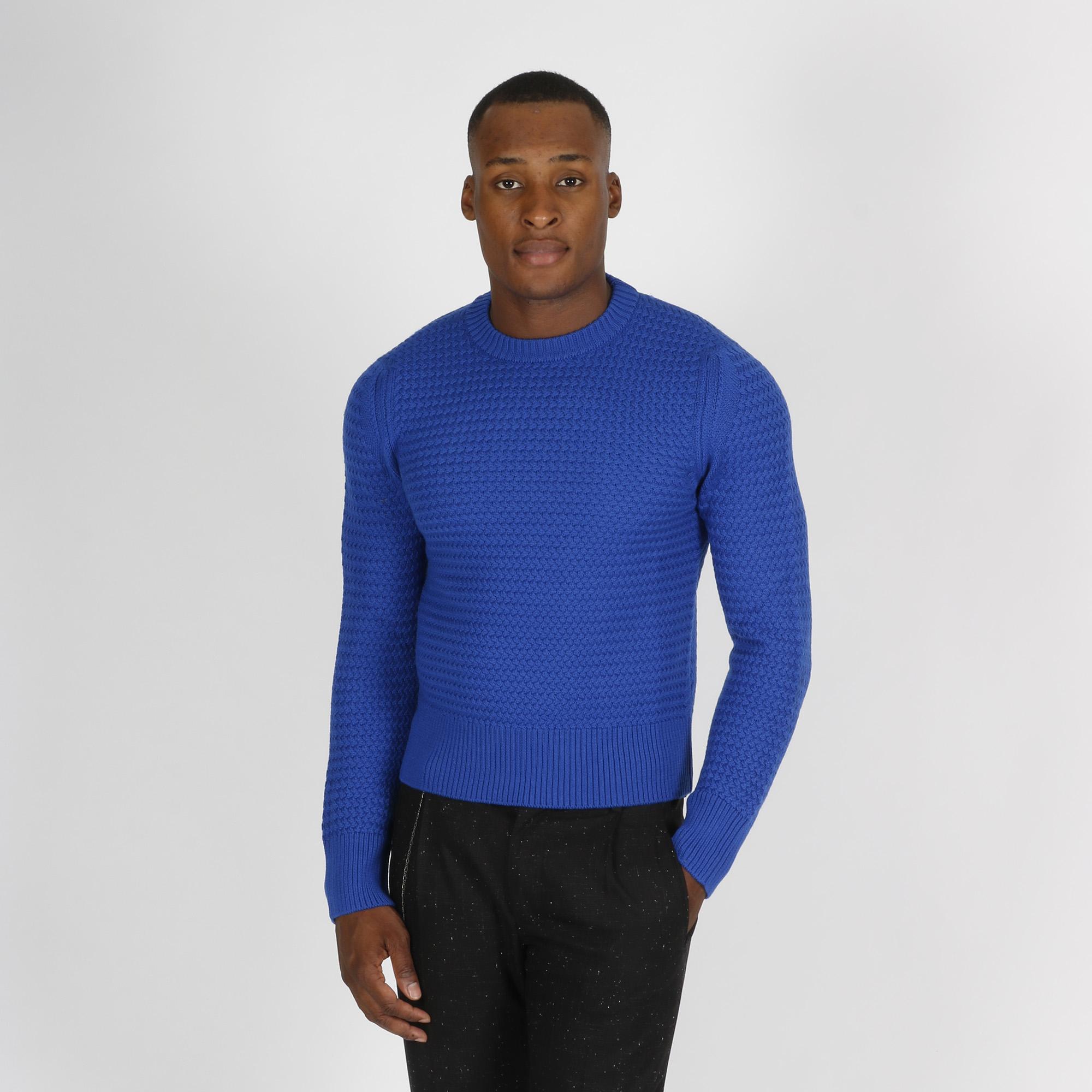 Paricollo punto maglia treccia - Bluette