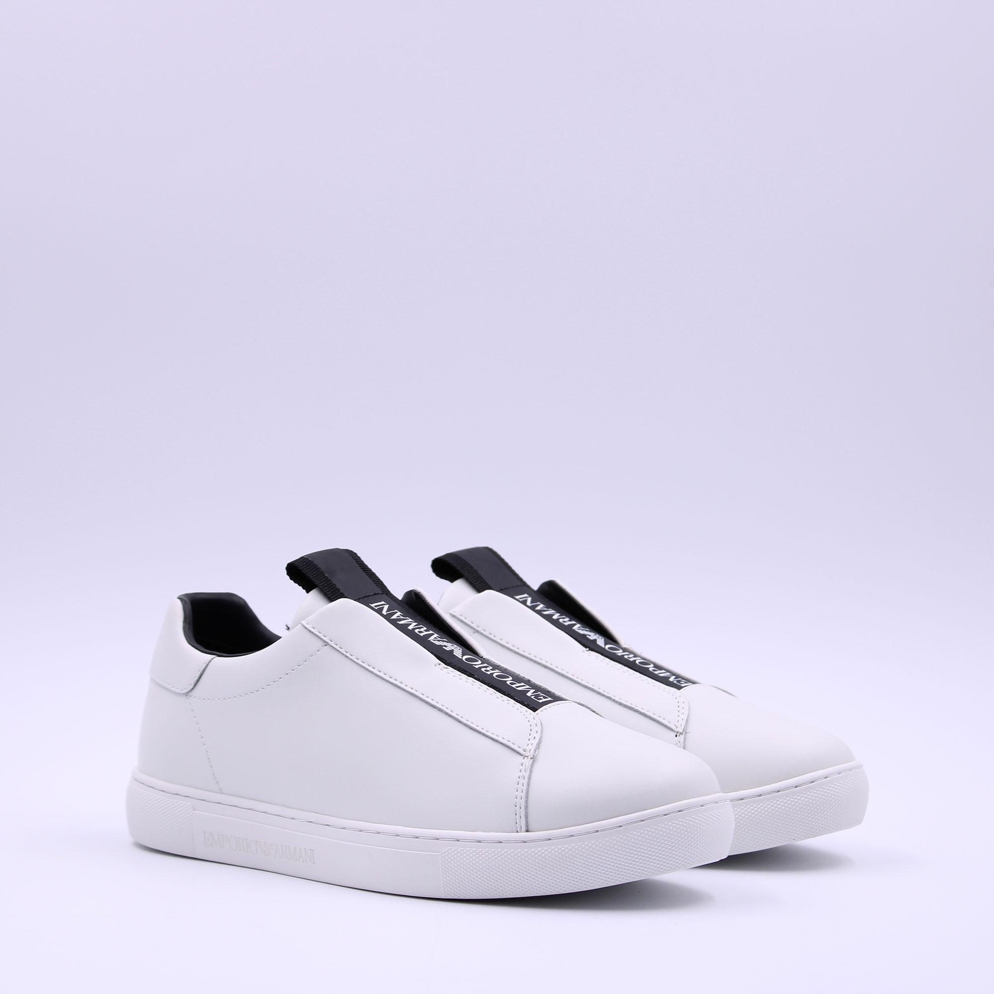 Sneakers epsom pelle - Bianco